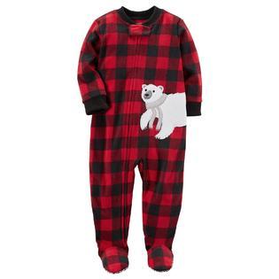 5d9eaa23f Carter s Infant Boys  Plaid Footed Pajamas - Polar Bear