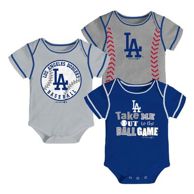 Mlb Newborn Infant Boy S 3 Pack Bodysuits Los Angeles Dodgers