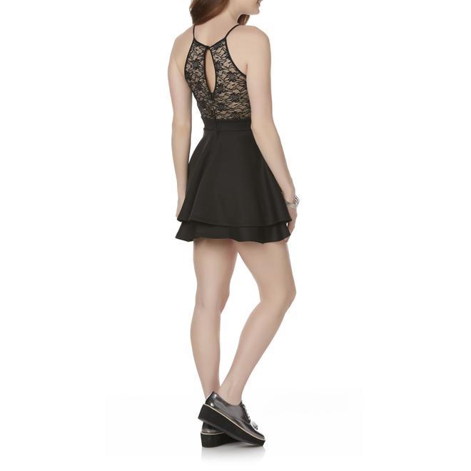 510587143 Emerald Sundae Juniors' Lace Halter Dress