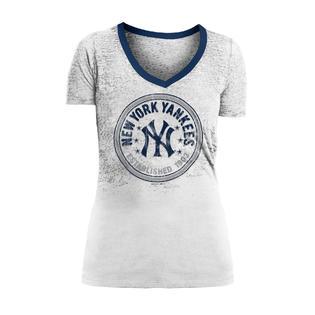 bee882aa9 MLB Women's V-Neck Burnout T-Shirt - New York Yankees