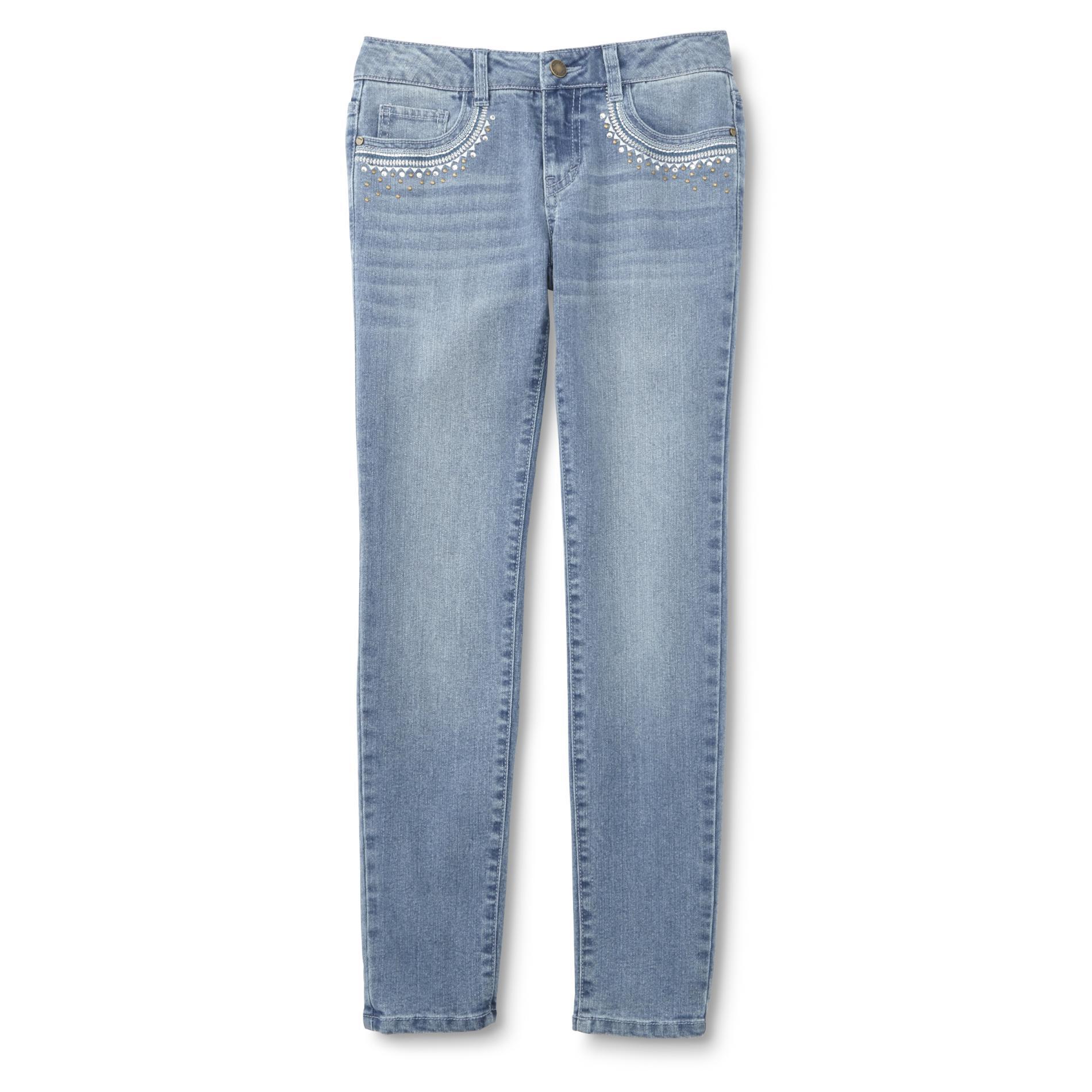 Girl's Embellished Skinny Jeans