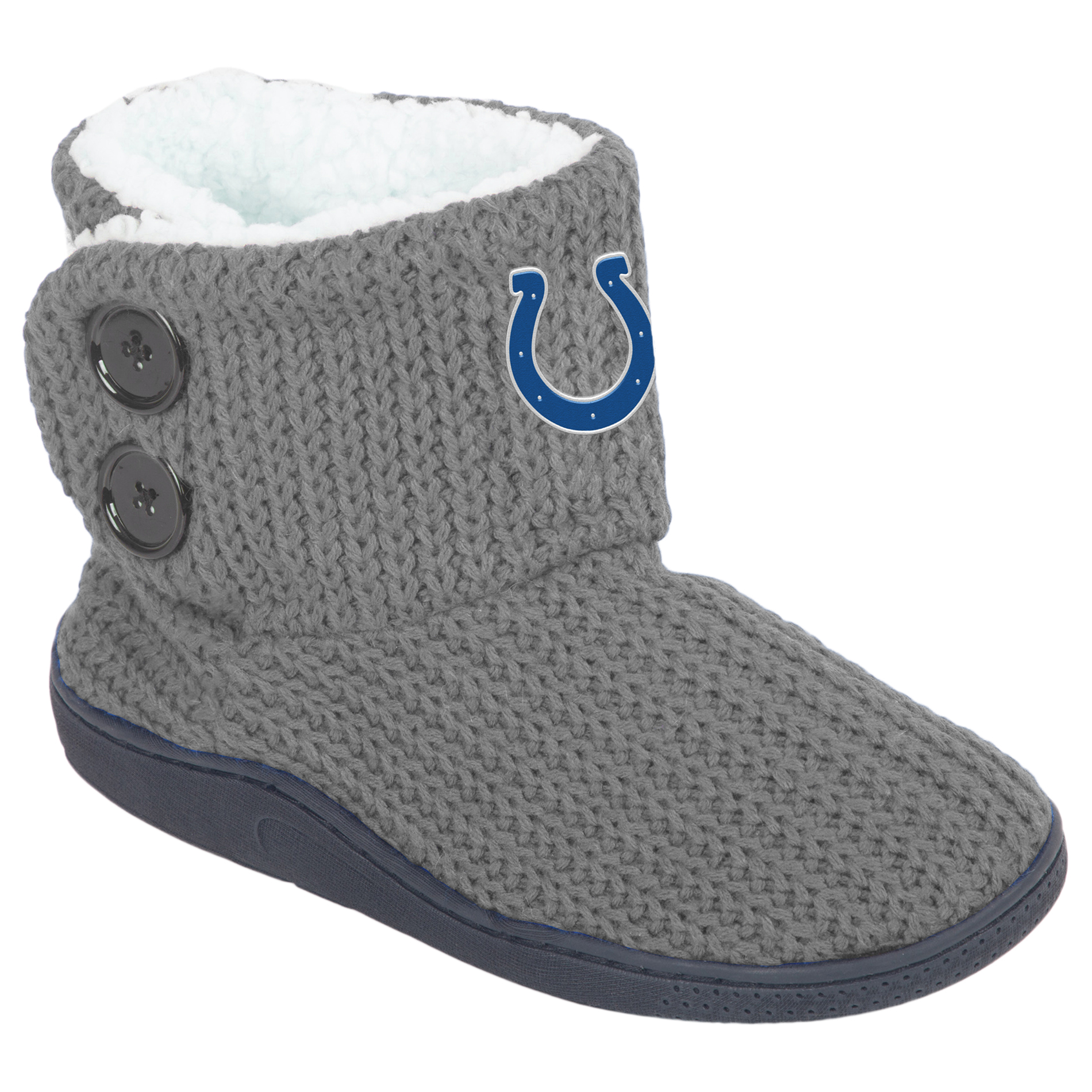NFL Women's 2-Button Knit Slipper Boots - Indianapolis Colts, Size: Large