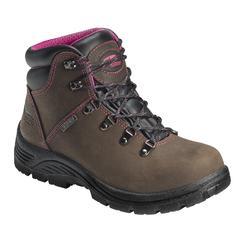 Avenger Safety Footwear Women s A7125 Brown Waterproof Steel Toe Work Boot 0aecb99ecb