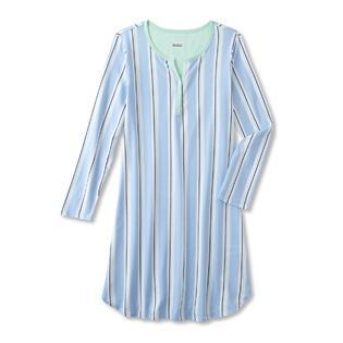 de0b83ba562 Basic Editions Women s Sleep Shirt - Striped