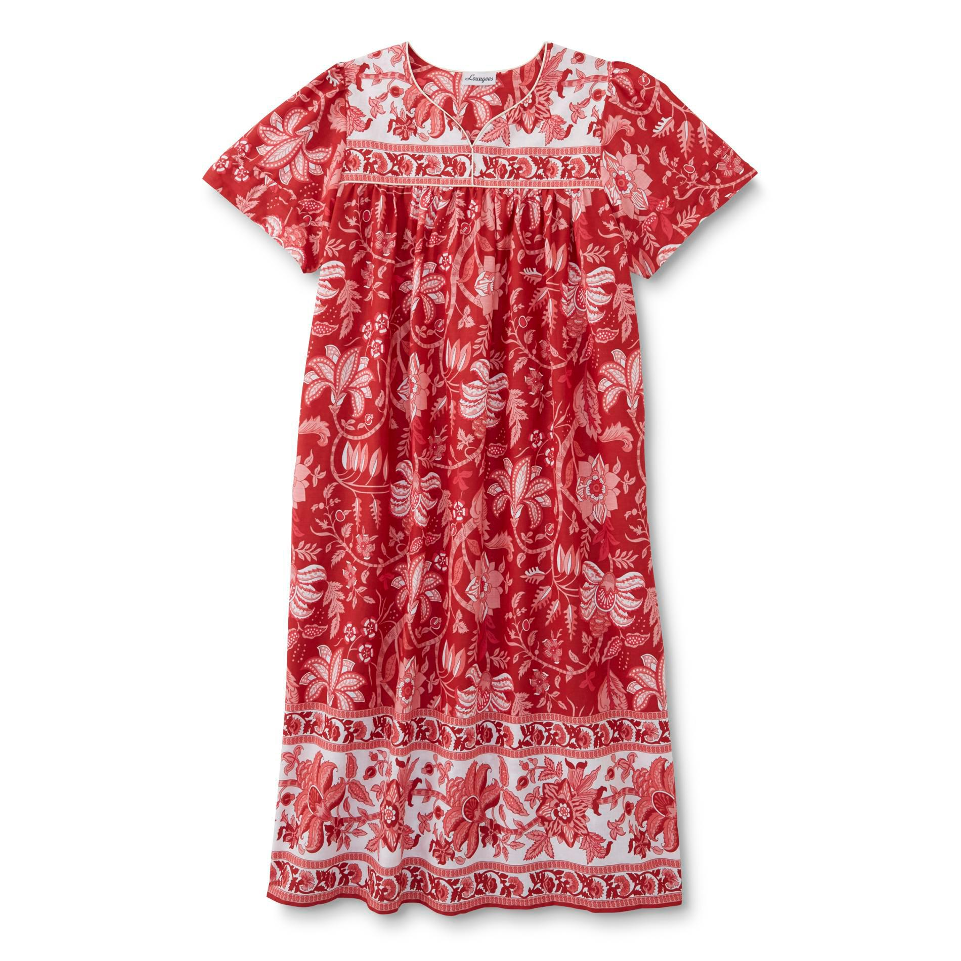 Loungees Women's Plus Nightgown - Floral