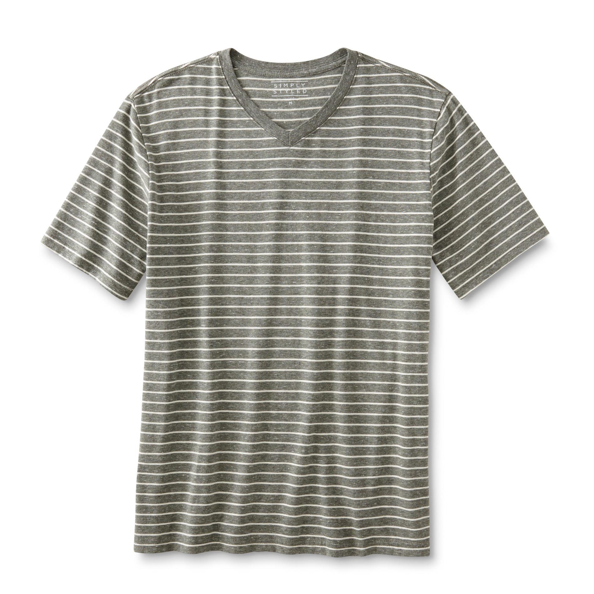 Simply styled men 39 s big tall v neck t shirt striped for Mens tall v neck t shirts