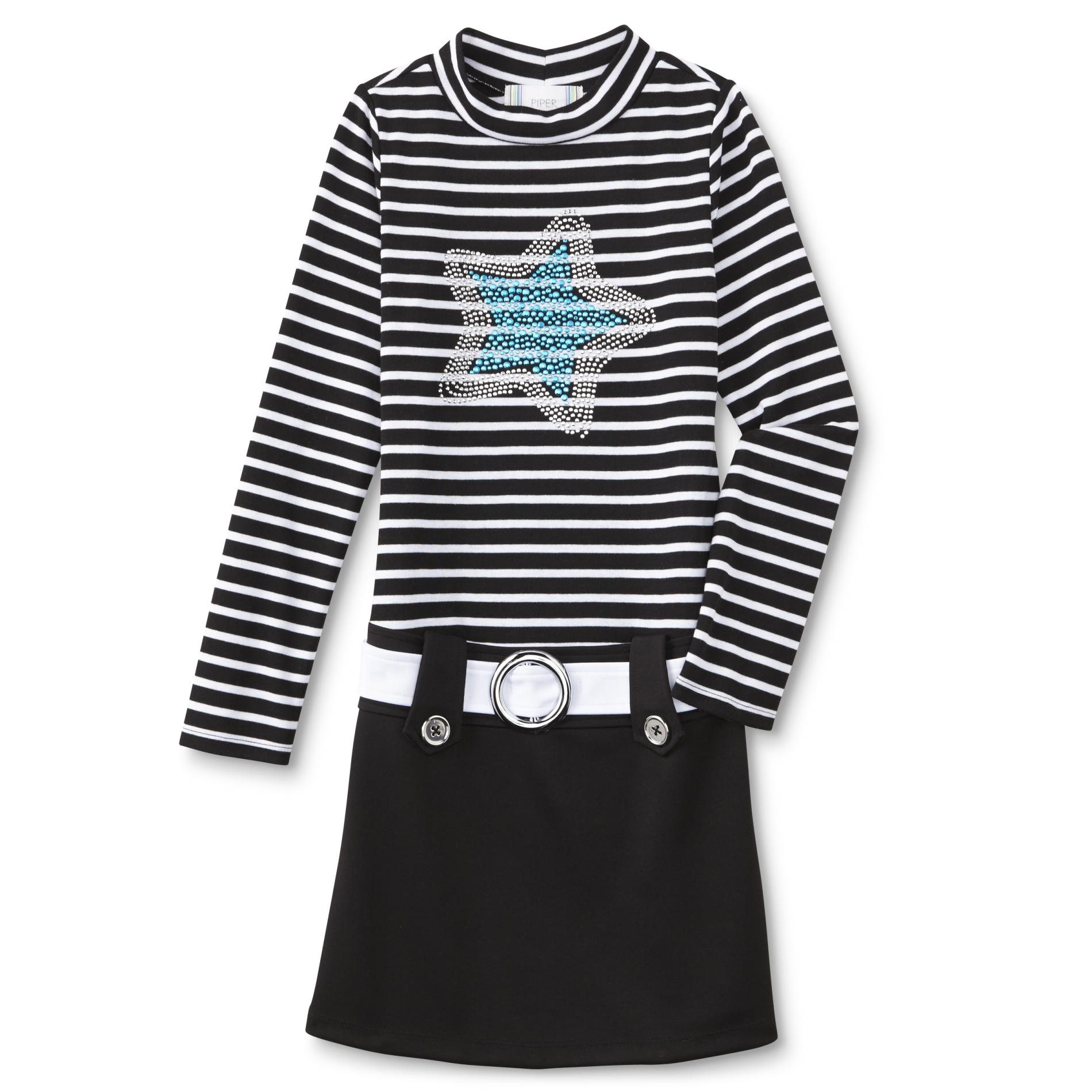 Piper Girl's Long-Sleeve Marsha Dress - Star & Stripes PartNumber: 049VA90574112P MfgPartNumber: JD855640H5