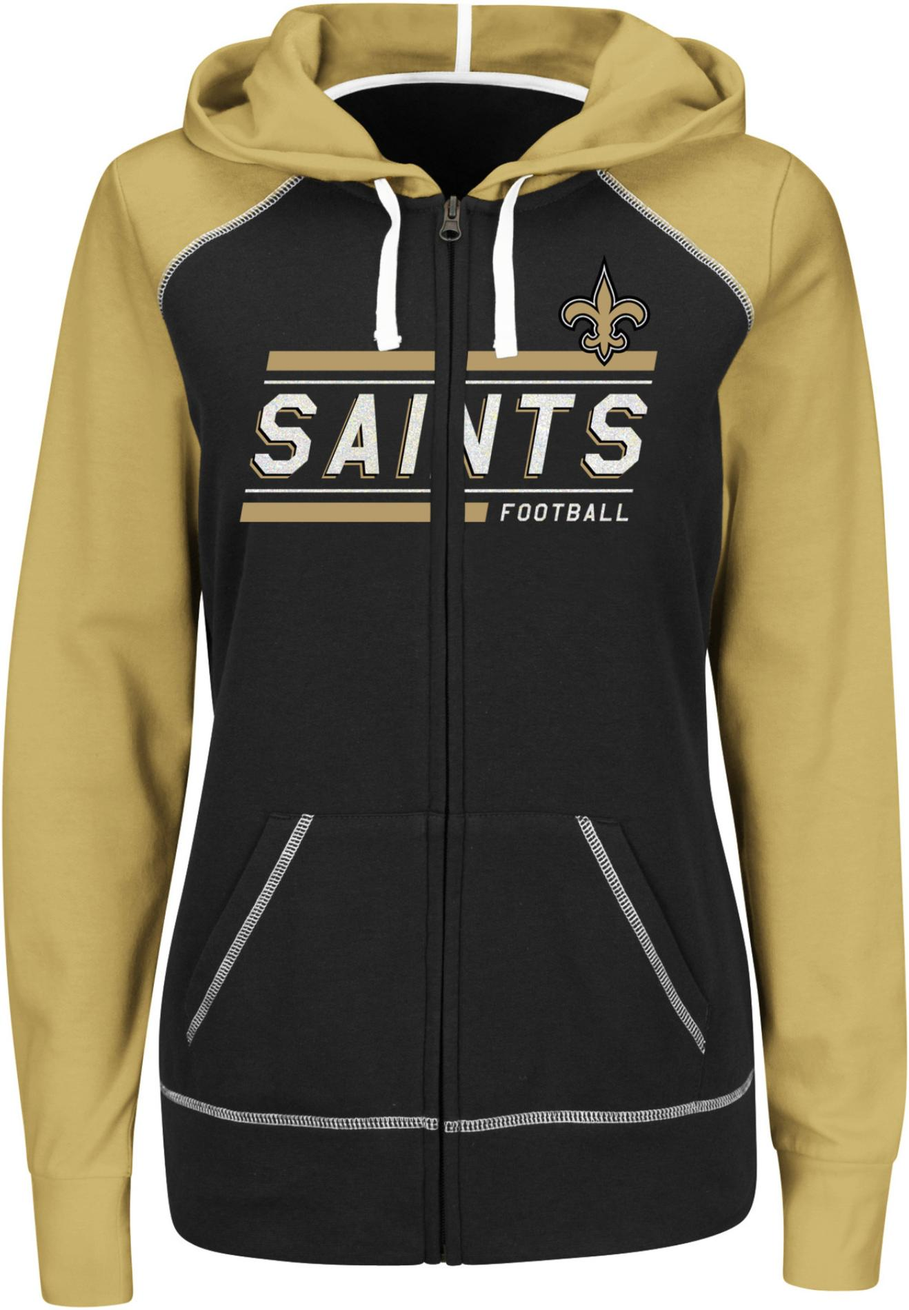 NFL Women's Colorblock Hoodie Jacket - New Orleans Saints PartNumber: 046VA91600212P MfgPartNumber: DBBD-5QX