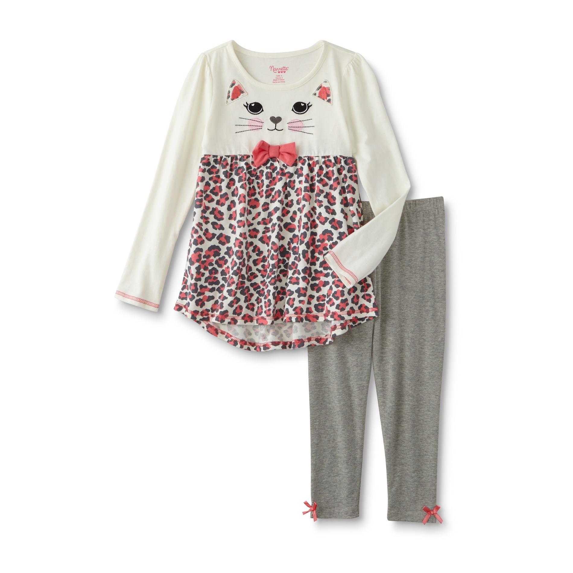 Nanette Girls' Tunic & Leggings - Leopard Print
