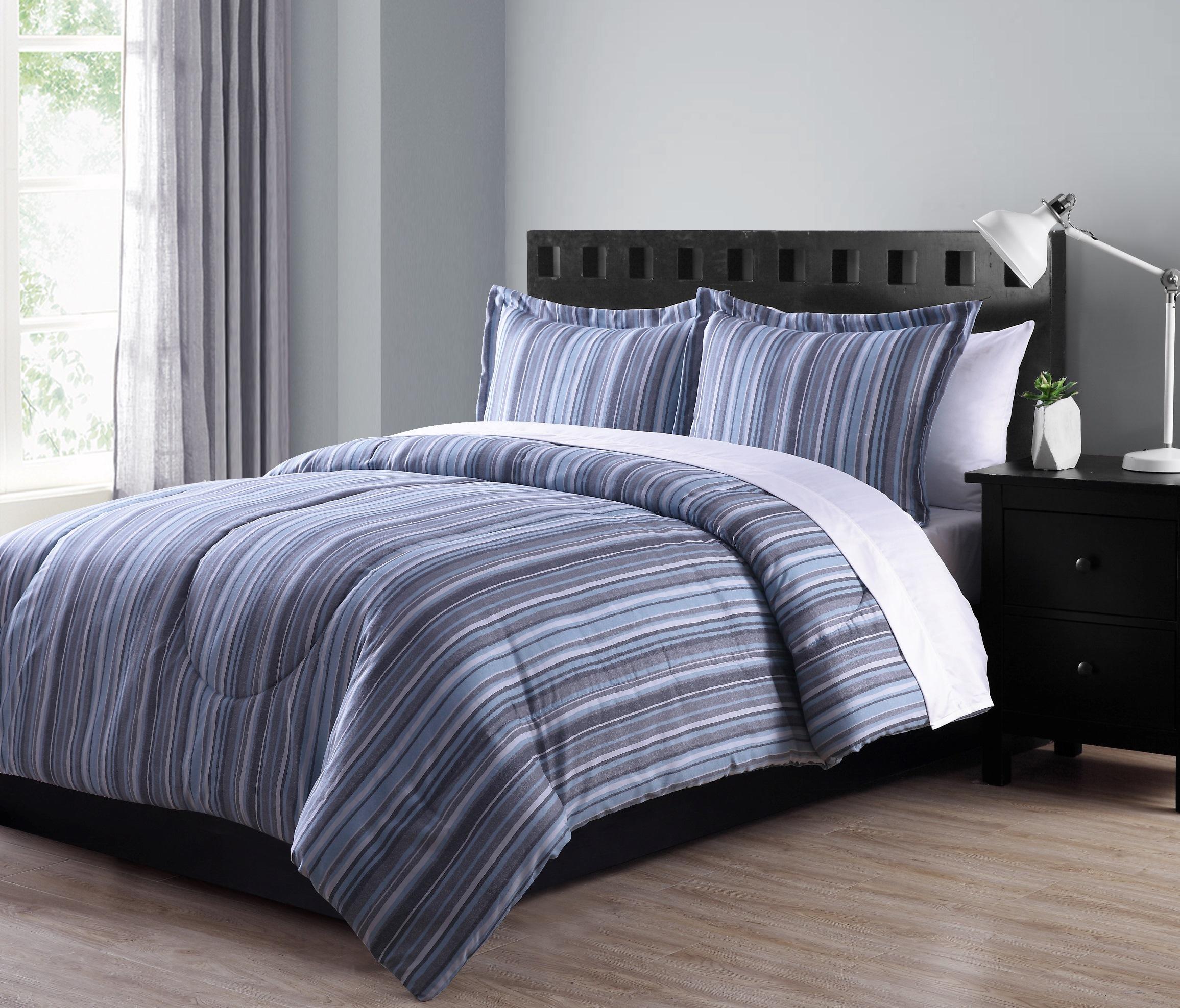 Colormate Mini Comforter Set – Textured Stripe