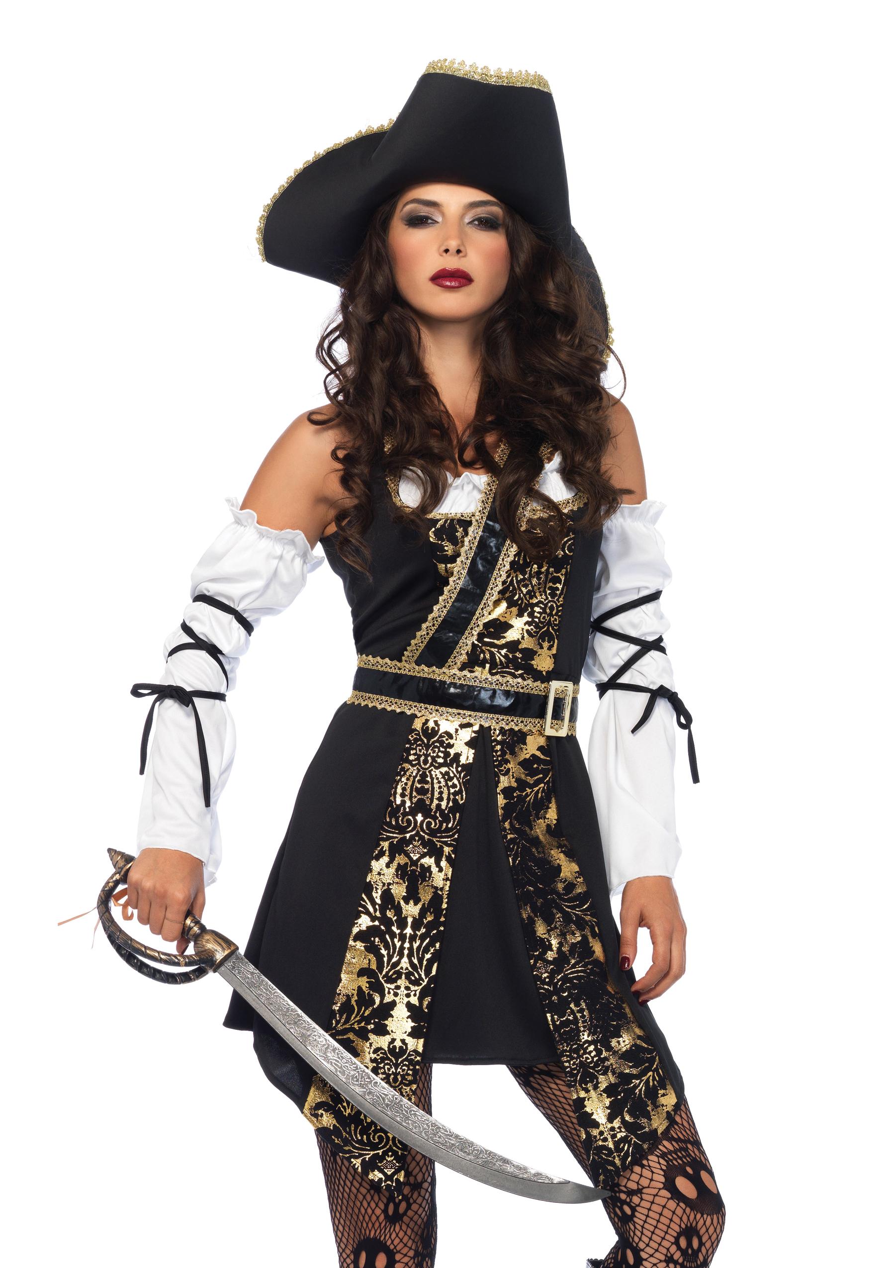 Leg Avenue Leg Avenue Black Sea Buccaneer 4 Piece Costume PartNumber: 3ZZVA92382912P MfgPartNumber: 855630