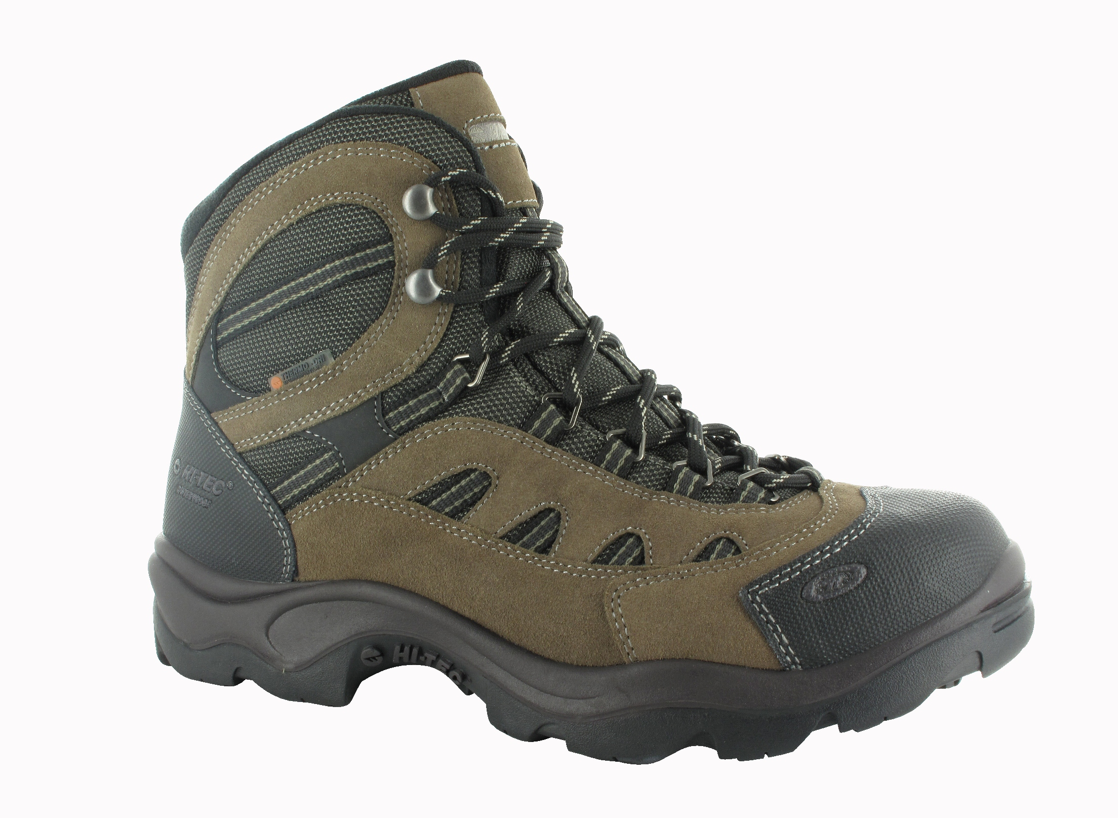 Hi-Tec Men's Bandera Mid 200 Waterproof DarkTaupe/Bungee/Warm Grey Winter Boot PartNumber: 3ZZVA90910812P MfgPartNumber: 58034
