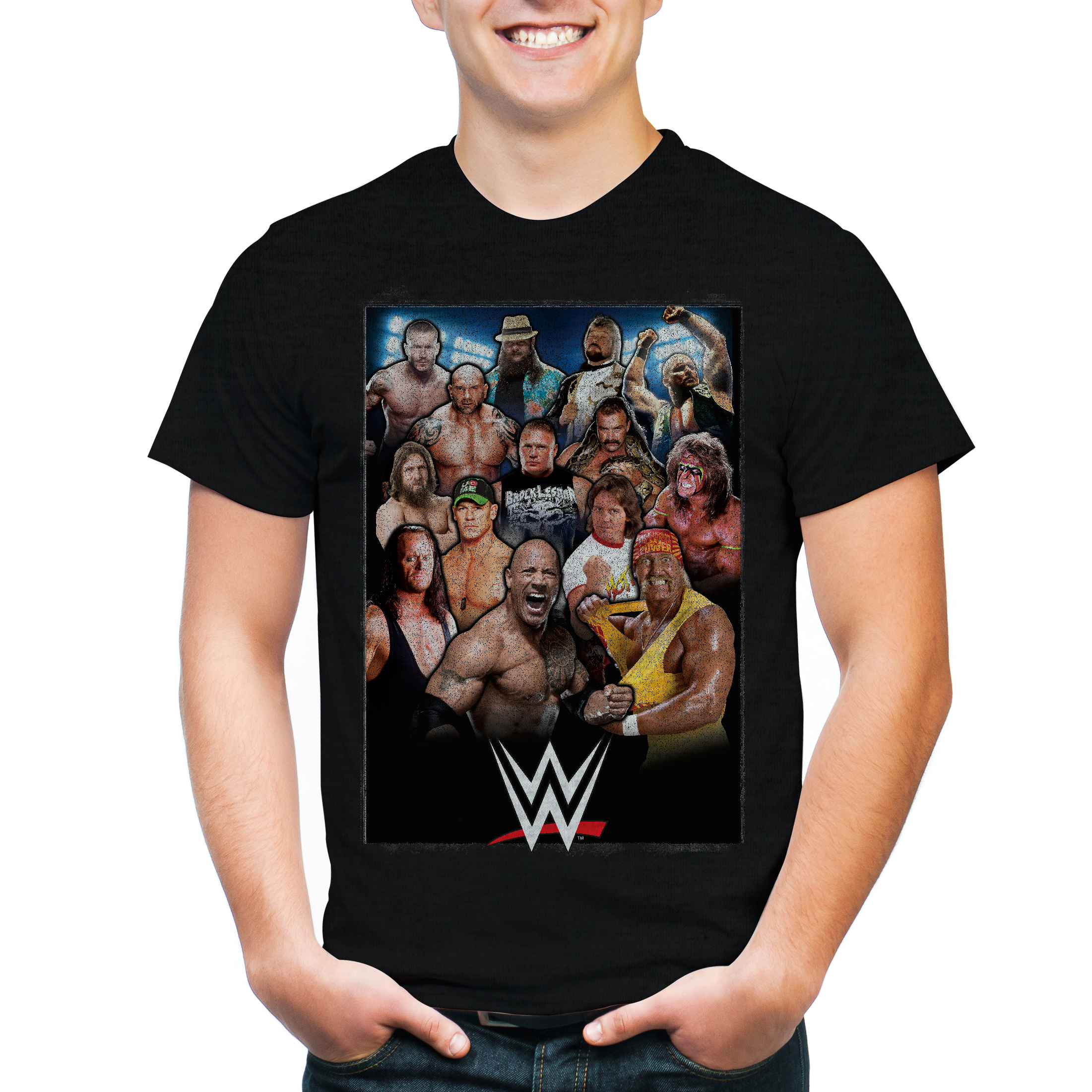 Freeze WWE 3 Eras, Allstar Generations Men's Short Sleeve Graphic Tee T-Shirt PartNumber: 3ZZVA93054312P MfgPartNumber: VWSN991-18