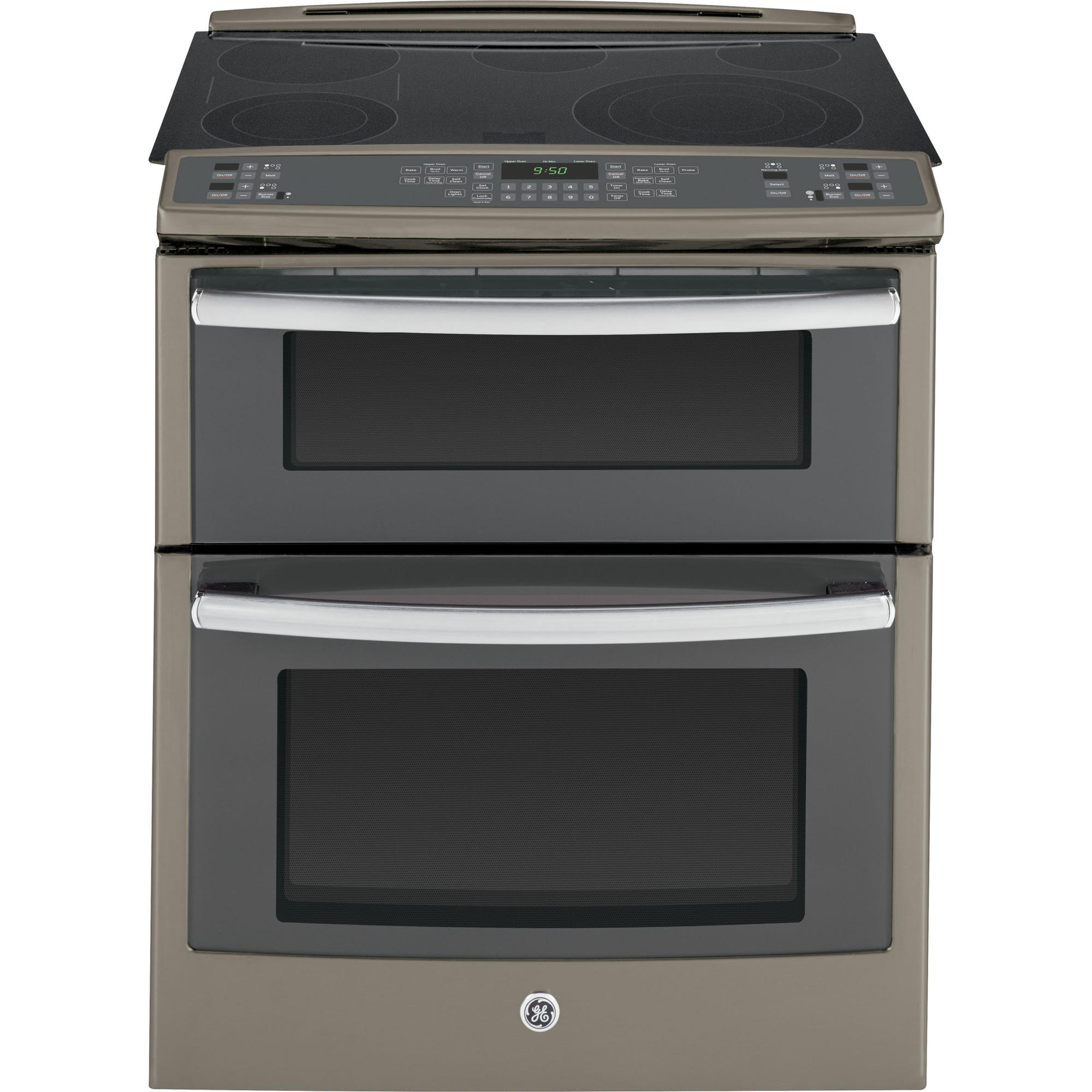 GE Profile™ Series 4.4 cu. ft. Slide-In Electric Range w/ Convection Double Oven - Slate