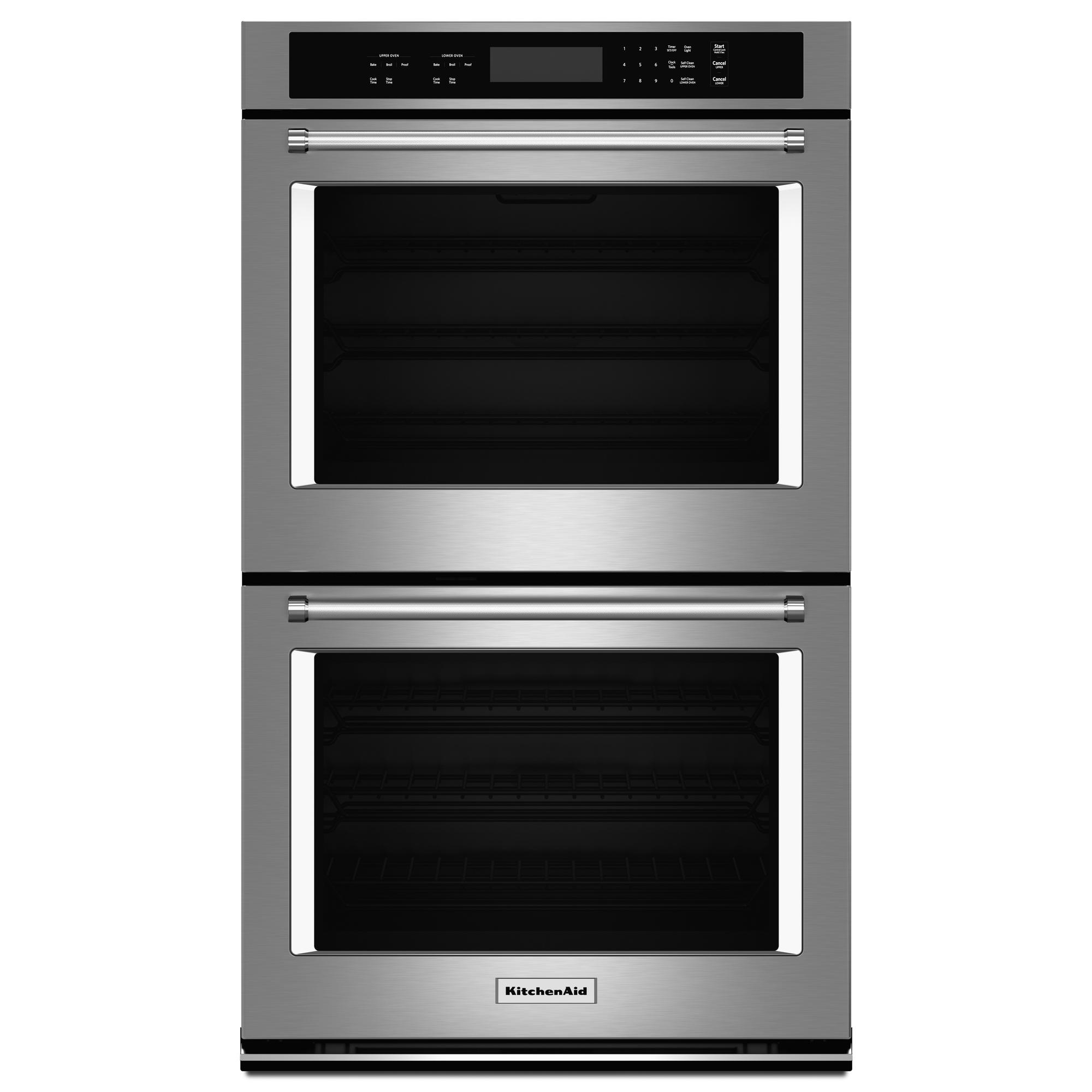 KitchenAid 4.3 cu. ft. (Each) Double Wall Oven w/ Even-Heat™ Thermal Bake/Broil - Stainless Steel