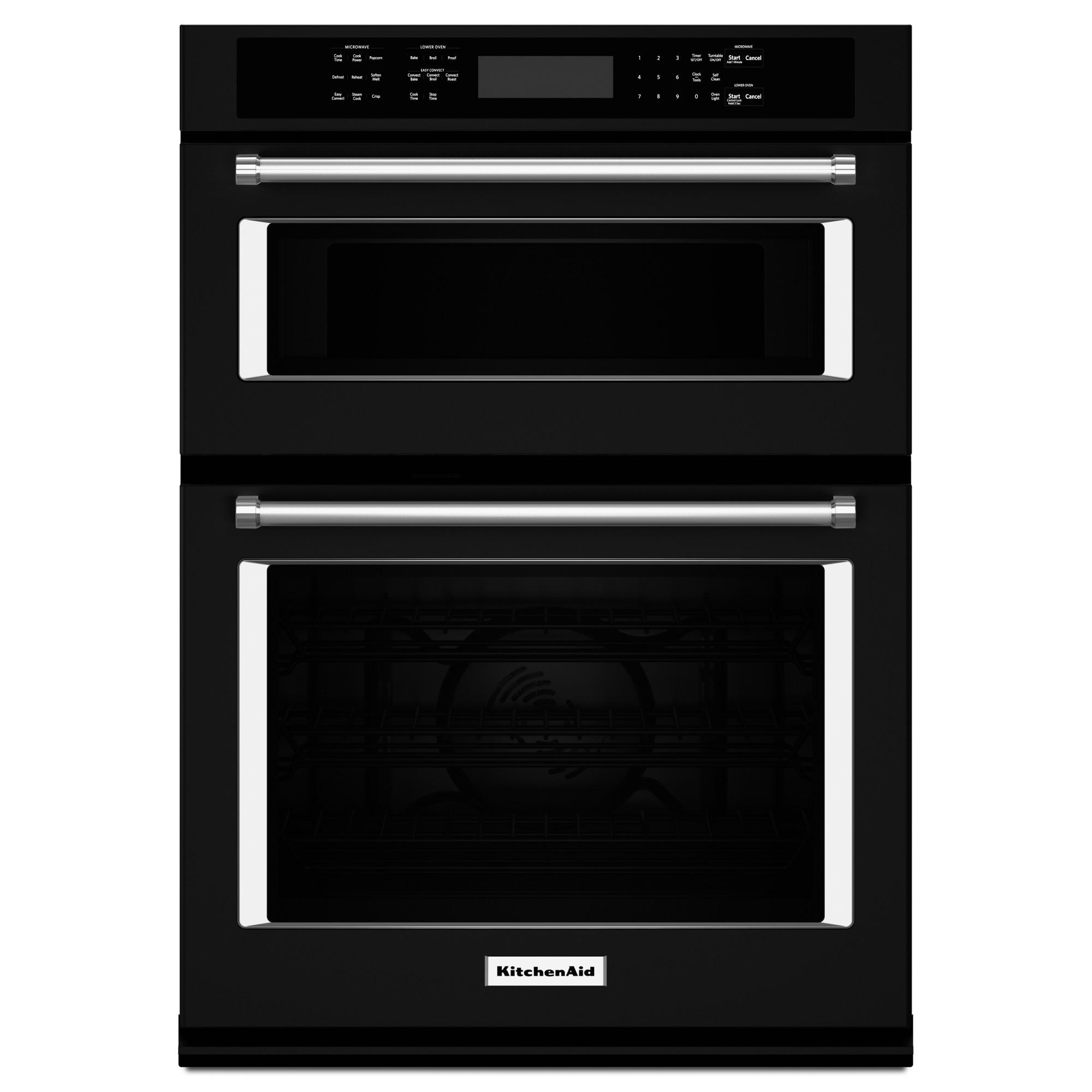 KitchenAid KOCE500EBL 30 Combination Wall Oven w/ Even-Heat™ True Convection - Black