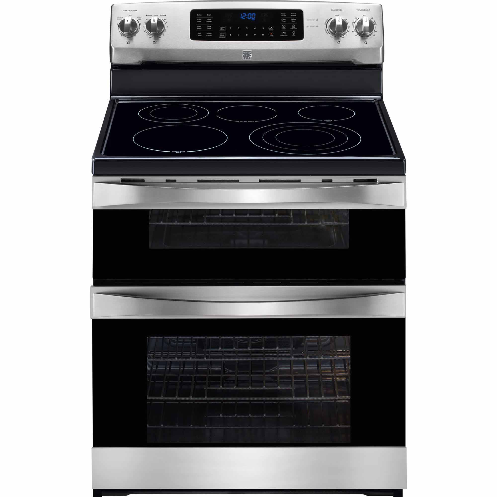 97313-6-9-cu-ft-Double-Oven-Electric-Range-w-True-Convection-Stainless-Steel-w-Black-Trim