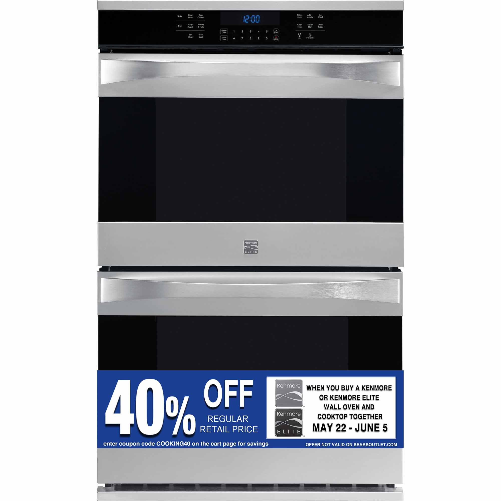 Kenmore Elite 30 Quot Electric Double Wall Oven Stainless