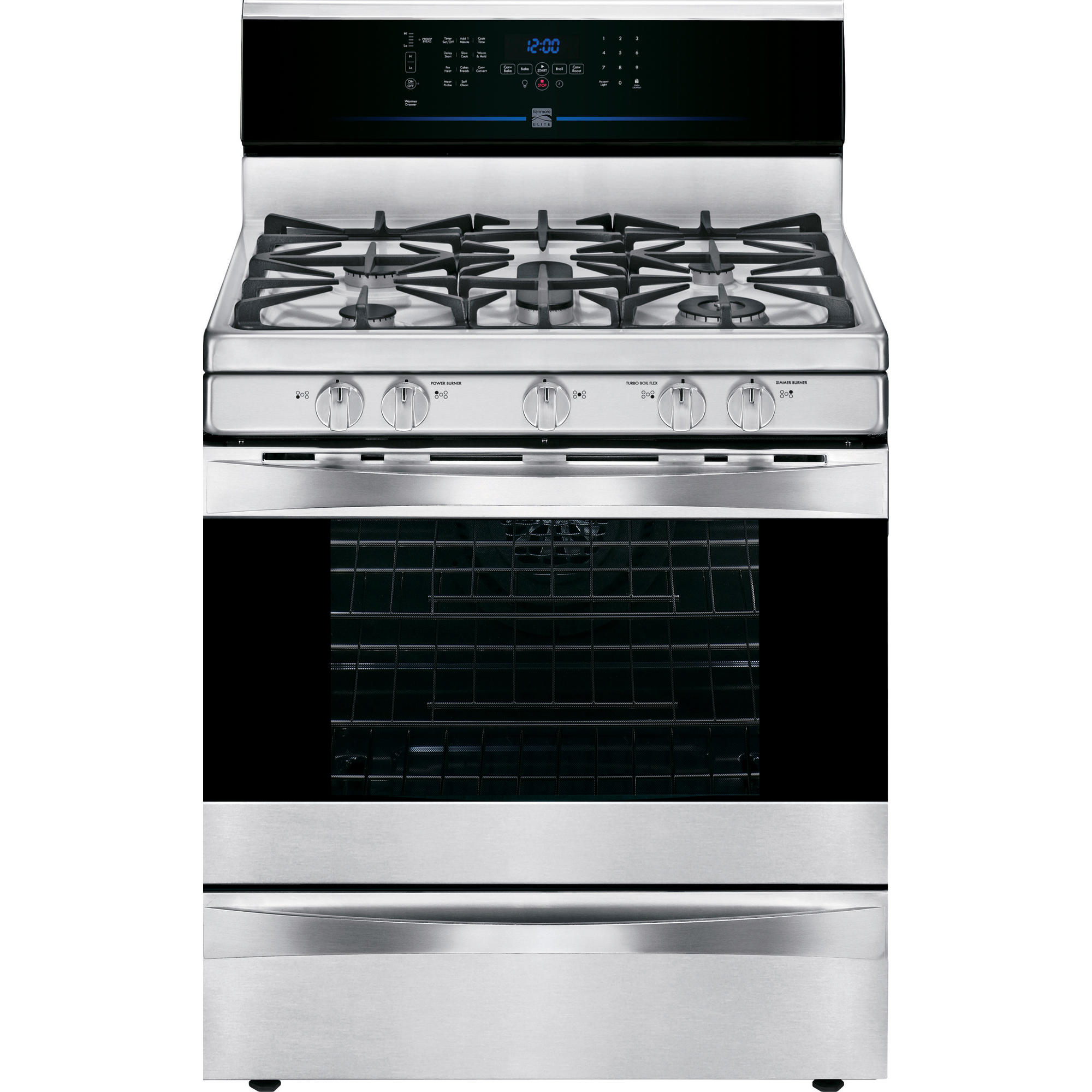 Kenmore-Elite-75343-5-6-cu-ft-Gas-Range-w-True-Convection-Stainless-Steel