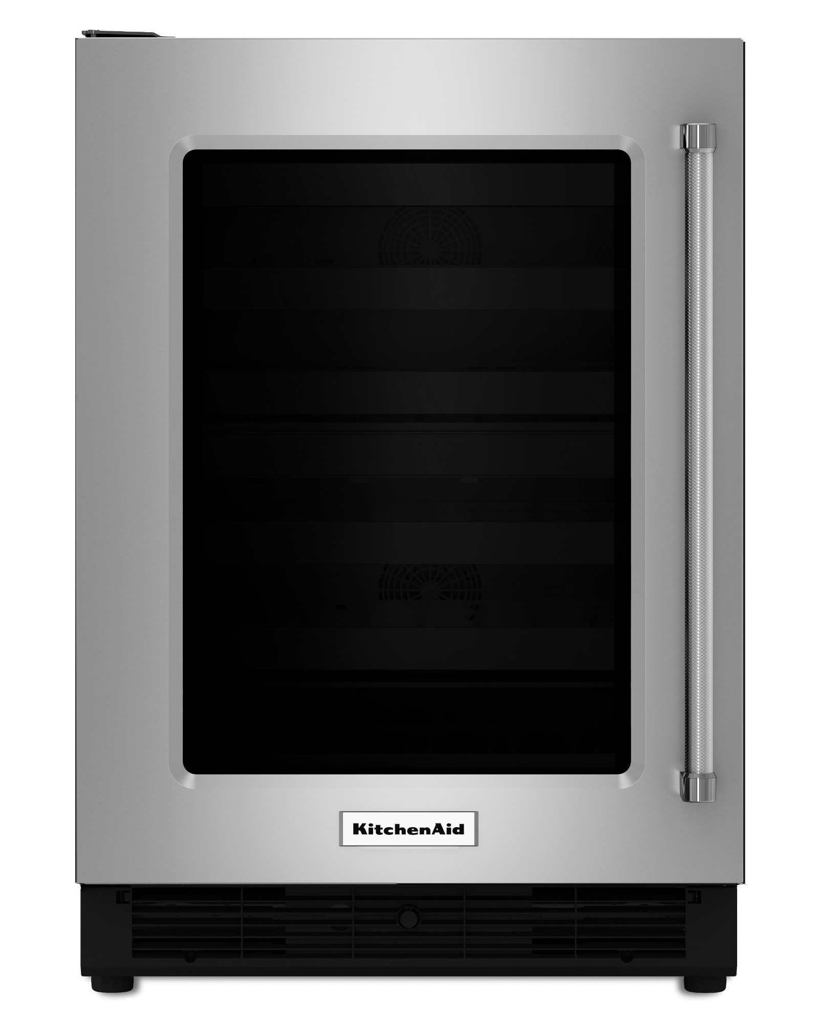 KURL204ESB-5-1-cu-ft-Left-Swing-Undercounter-Refrigerator-w-Glass-Door-Stainless-Steel