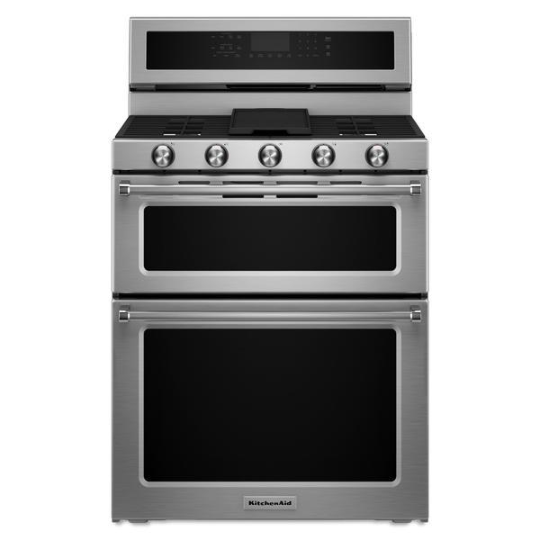 KitchenAid KFDD500ESS  6.7 cu.ft. Dual Fuel Double Oven Range - Stainless Steel