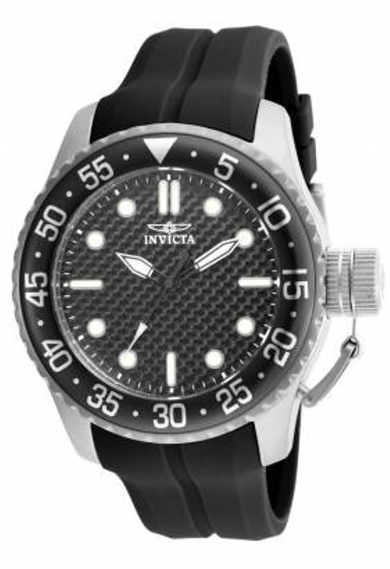 Invicta Men's Pro Diver Analog Display Japanese Quartz Black Watch