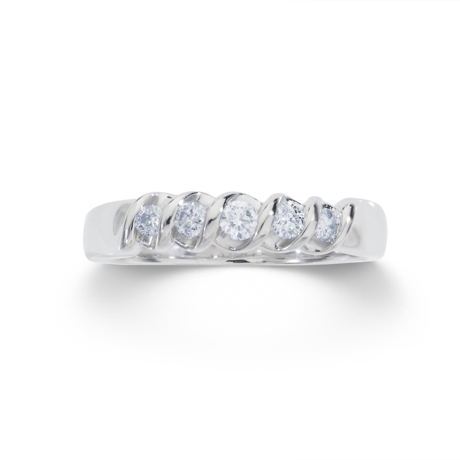 Tradition Diamond 1/4 cttw Round 10k White Gold Diamond Wedding Band - Size 7 Only