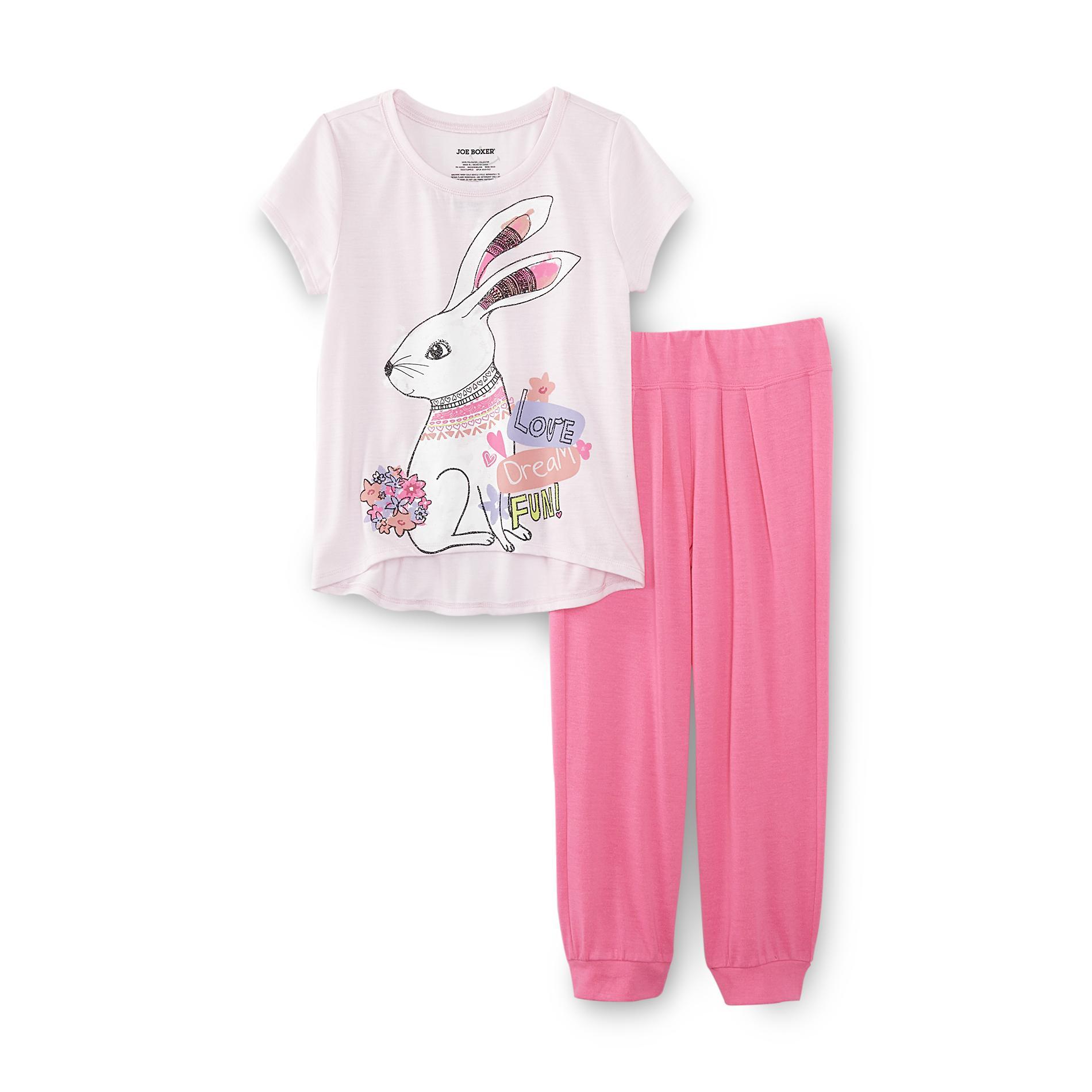 Girl's Pajama T-Shirt & Jogger Pants - Bunny