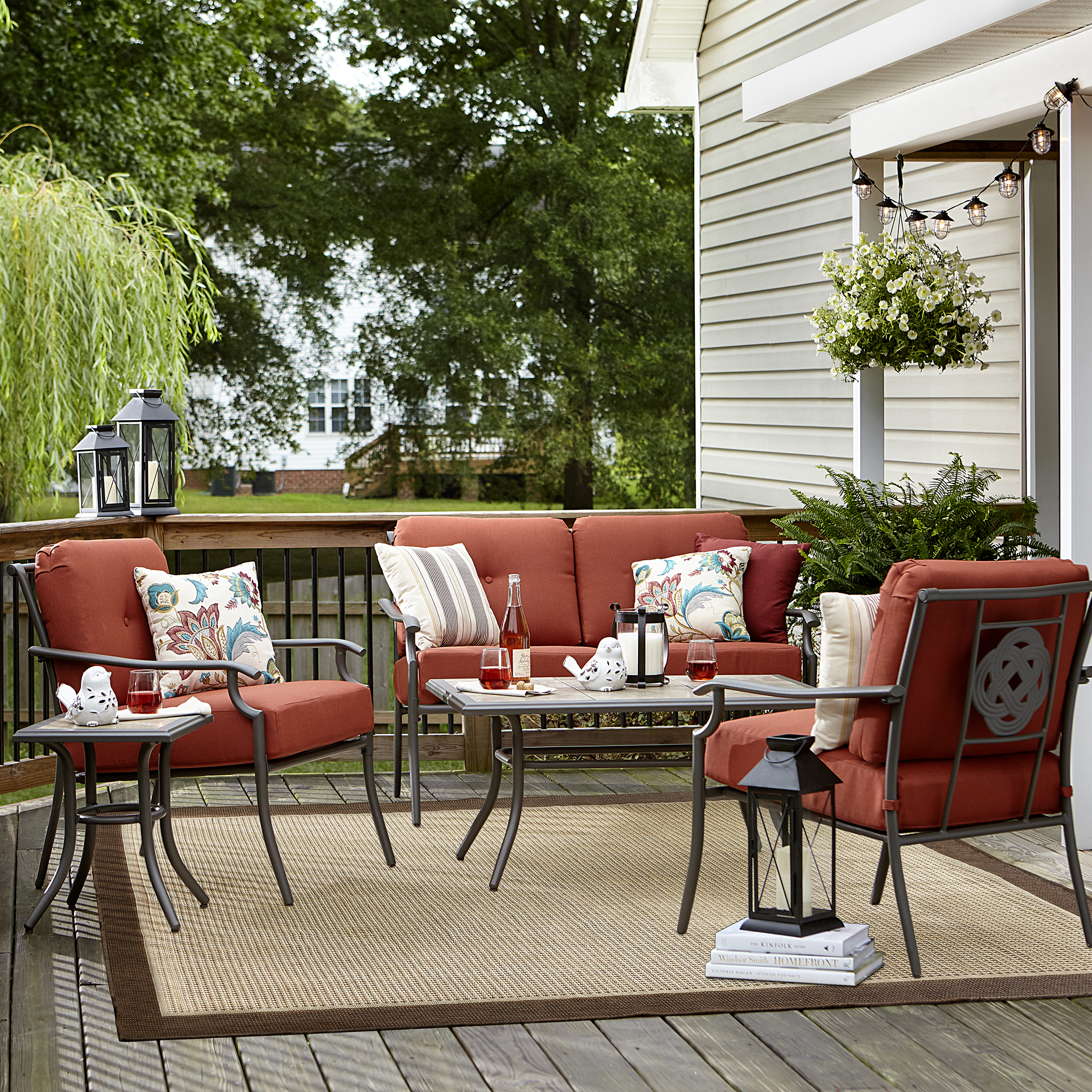 Garden Oasis Brookston 4 pc. Plush Terracotta Seating Set *Limited Availability
