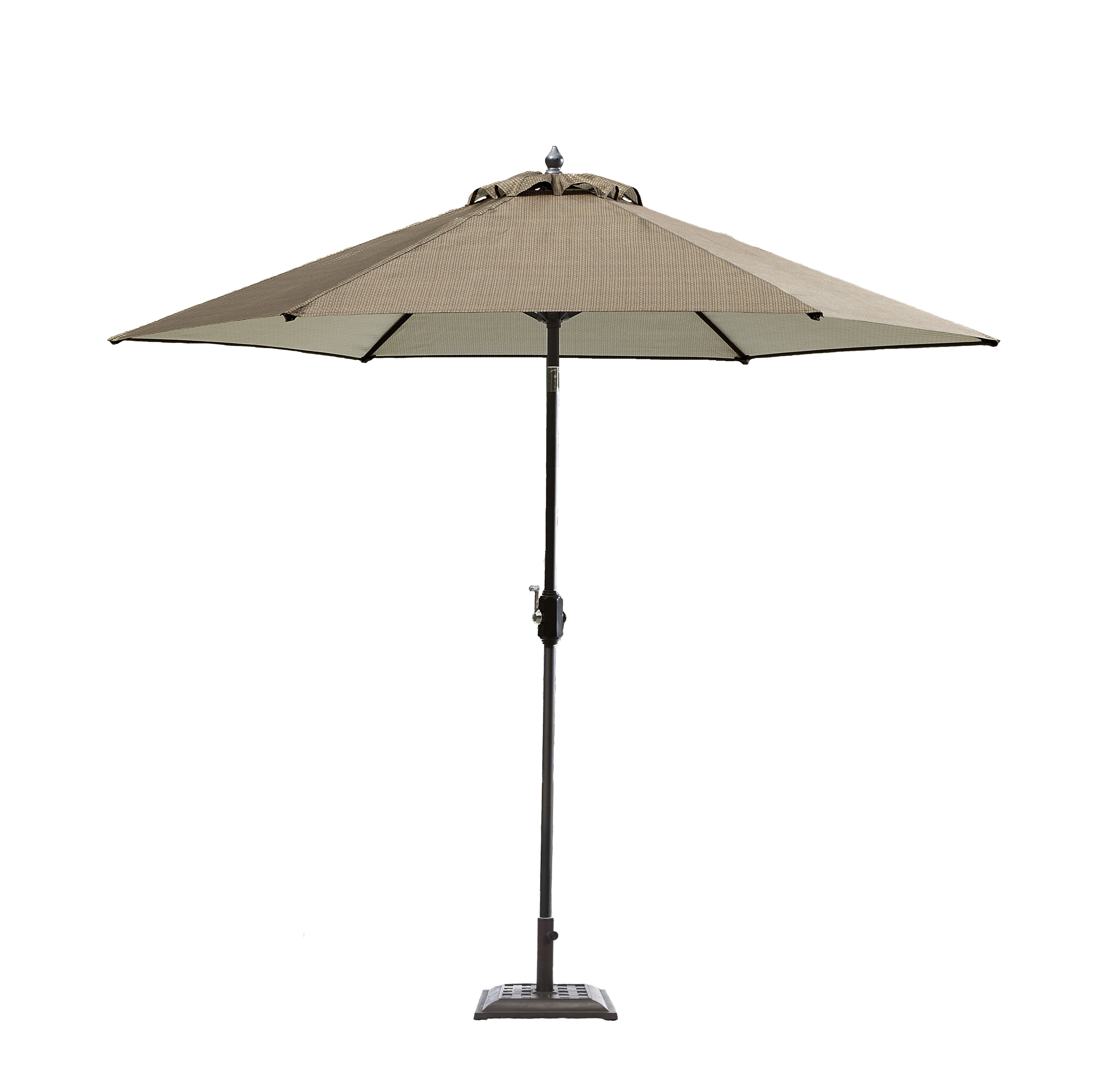Garden Oasis Harrison 9u0027 Patio Umbrella In Brown   Sears
