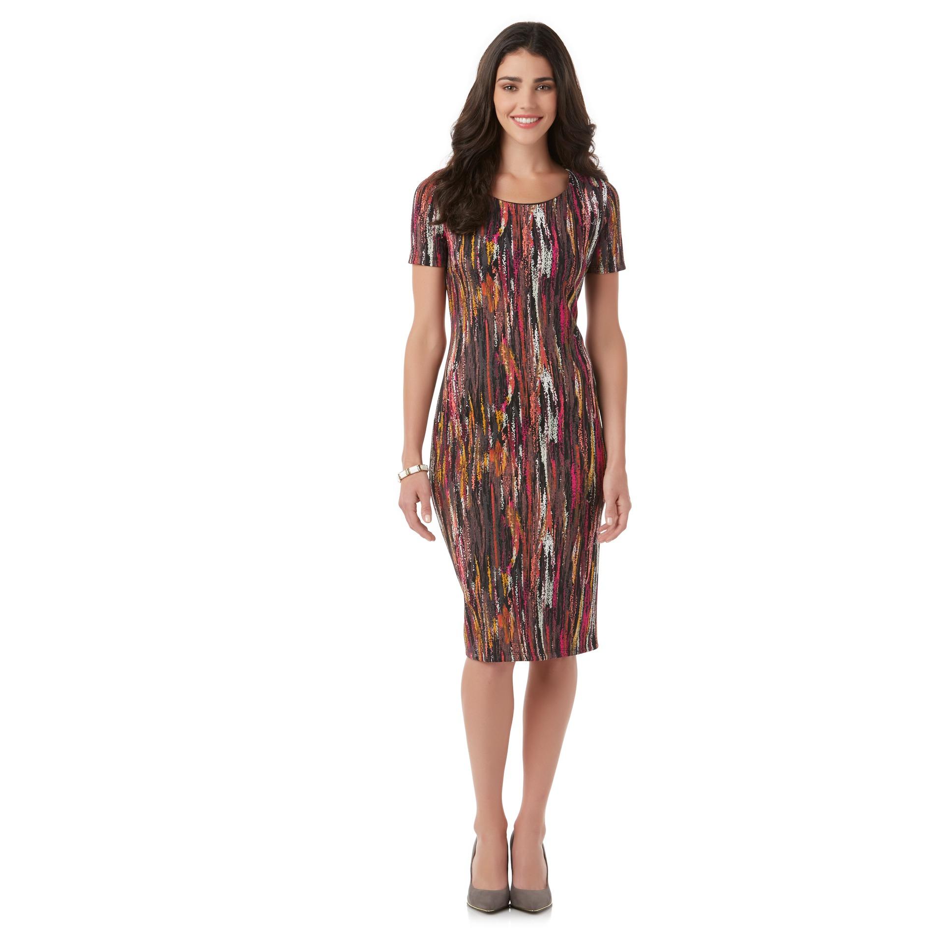 Women's Midi Dress - Abstract