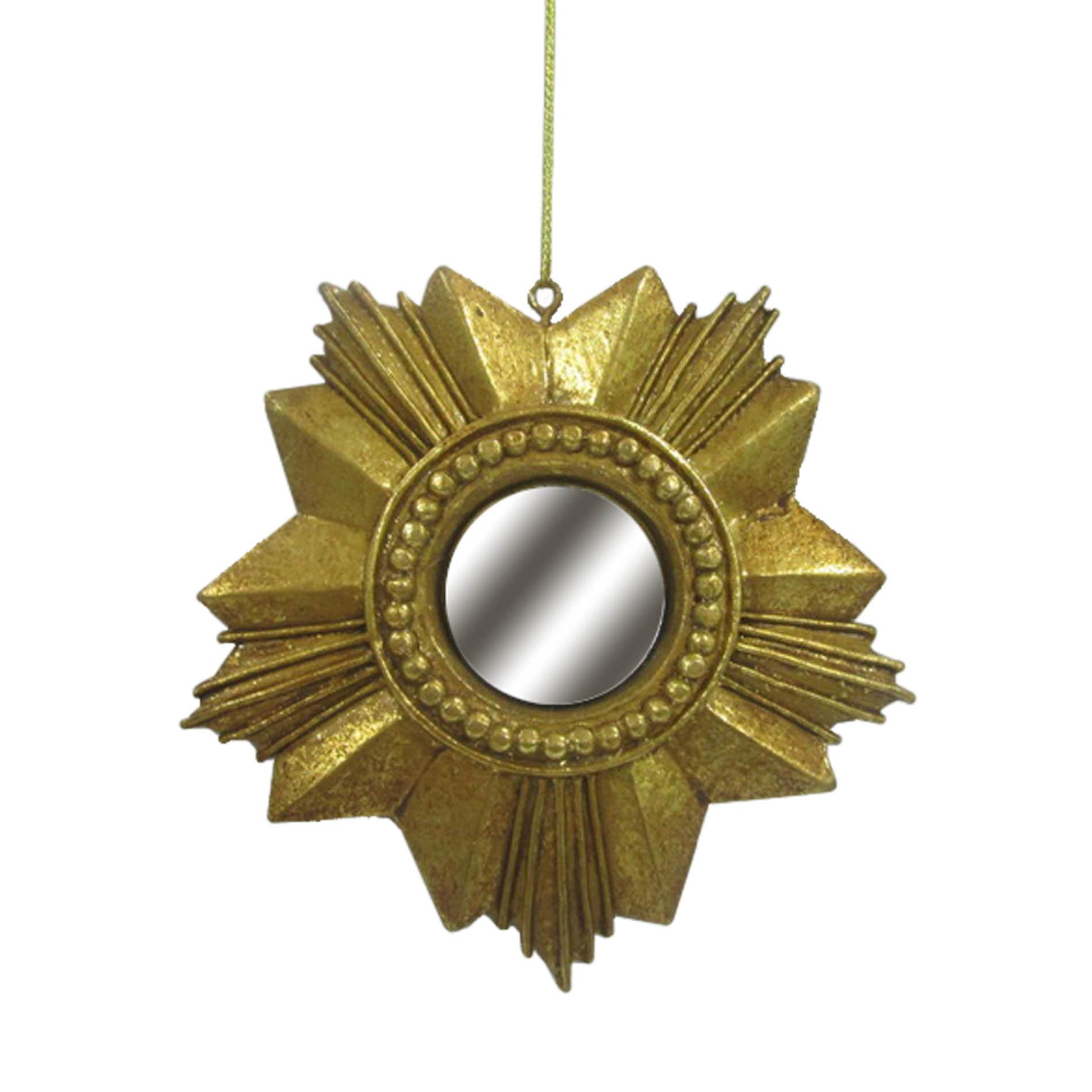DONNER & BLITZEN Venetian Snowflake Mirror Ornament