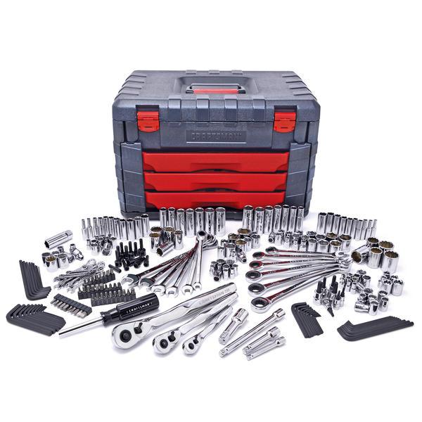 Mechanic Tool Set Socket Wrench Kit Garage Storage Tool Box Craftsman Tools New