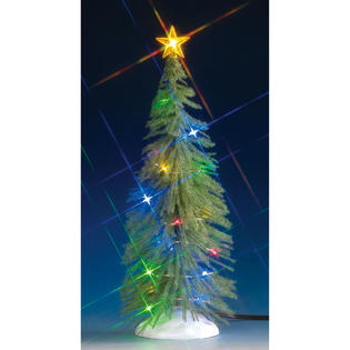 lemax village collection lemax village collection christmas village tree chasing multi light spruce tree