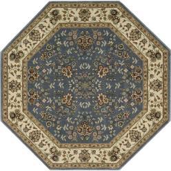 Nourison 5 3 X Persian Arts Light Blue Octagon Area