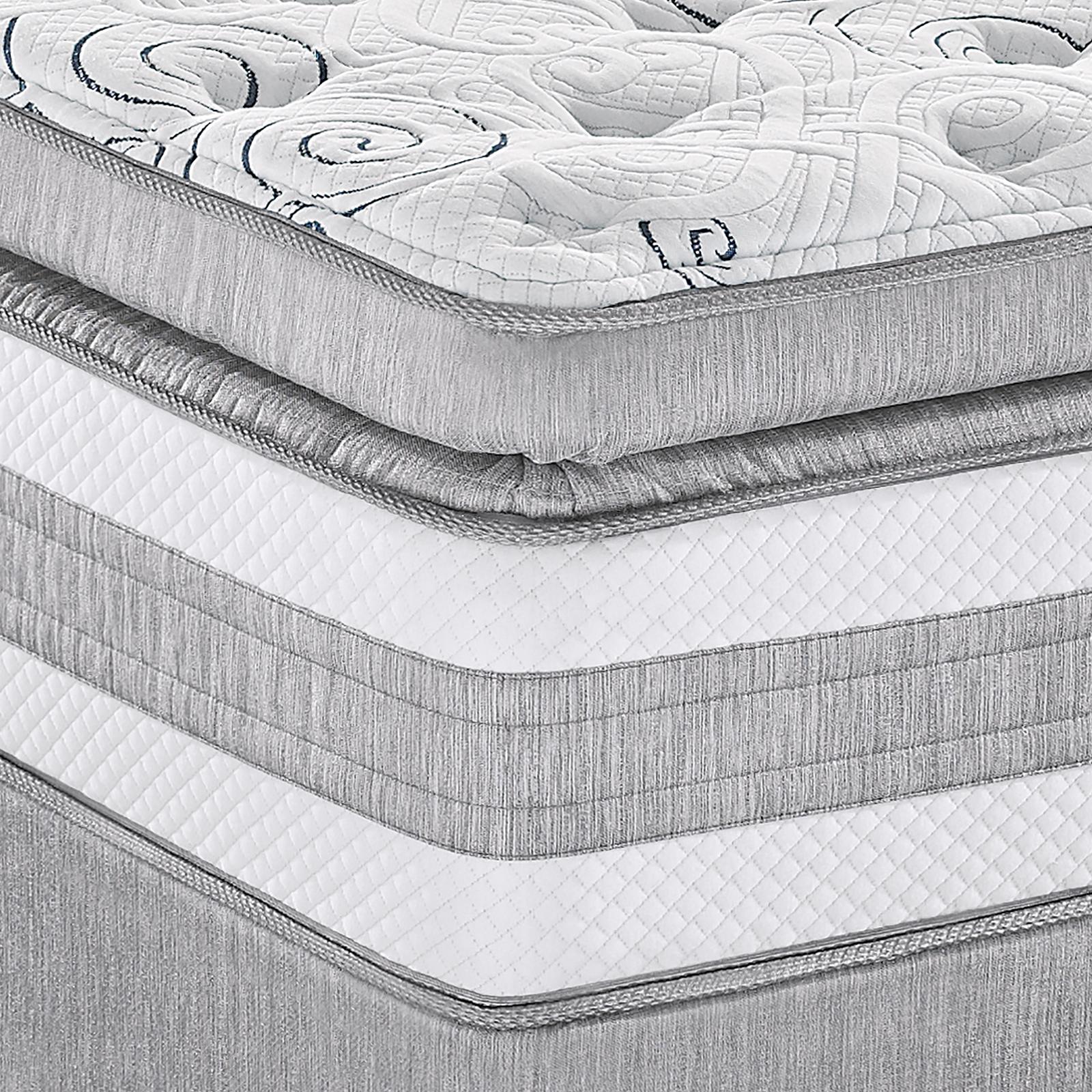 Serta perfect sleeper glenellen super pillowtop plush king mattress home mattresses accessories mattresses