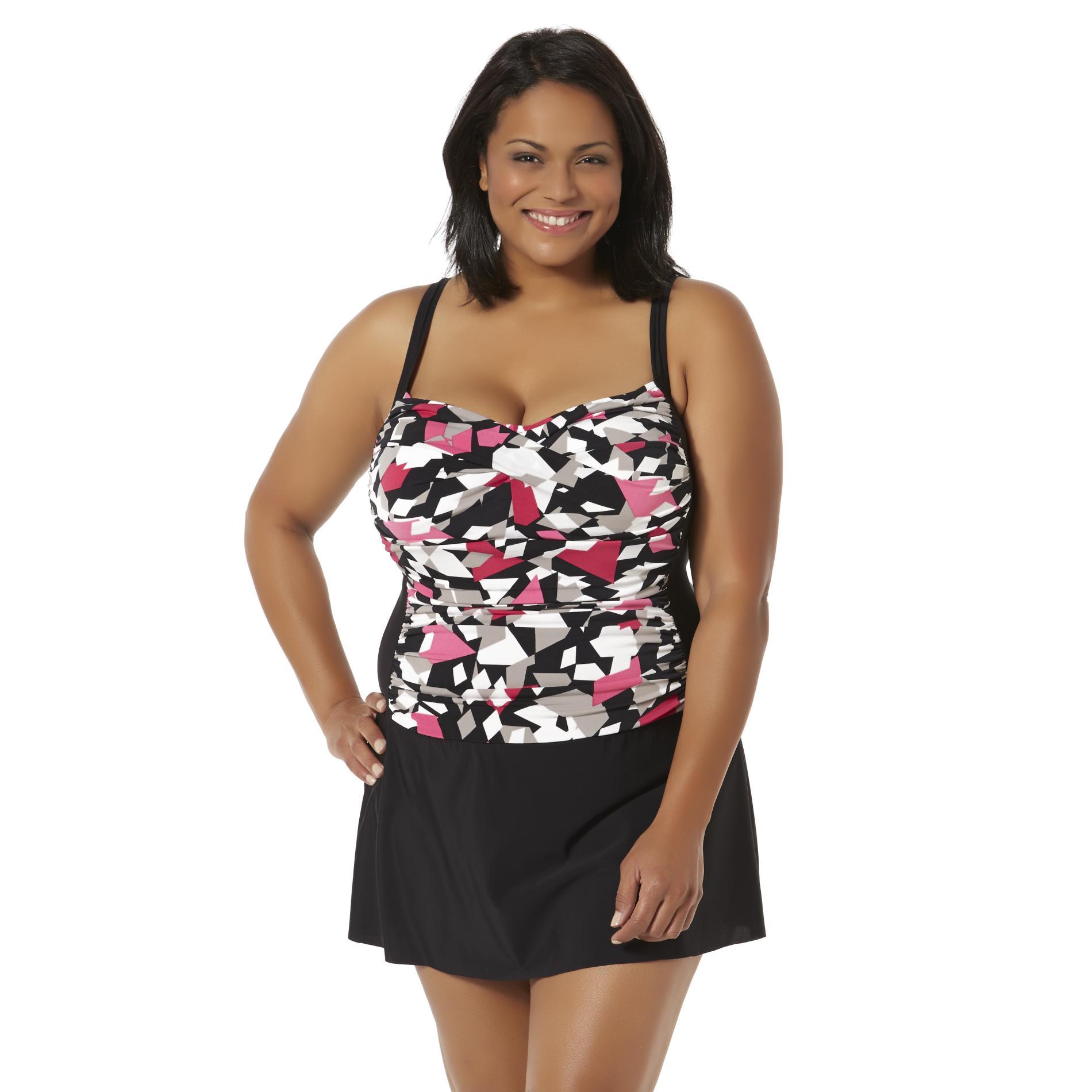 Women's Plus Swim Dress - Abstract Print PartNumber: 017VA86673912P MfgPartNumber: 522209XS