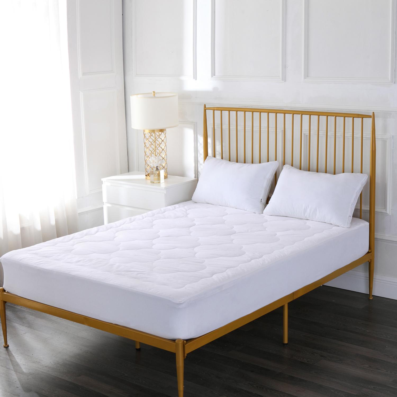 Image of Cotton Loft Cloud Stitch 100% Cotton Mattress Pad, White