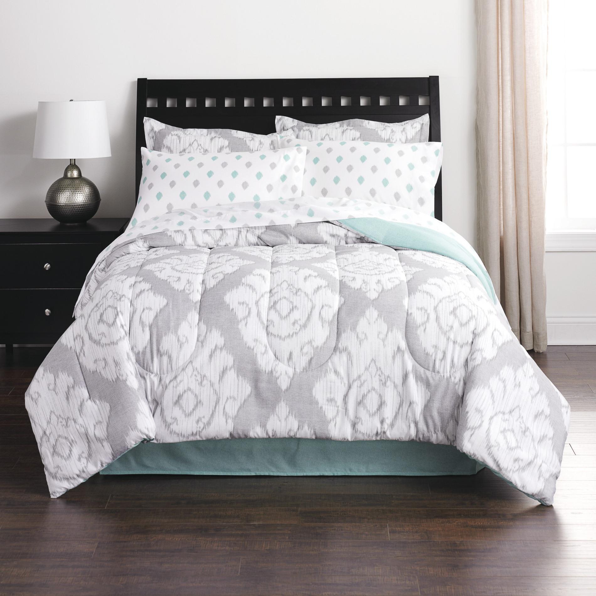 Colormate Complete Bed Set Ikat Flouris