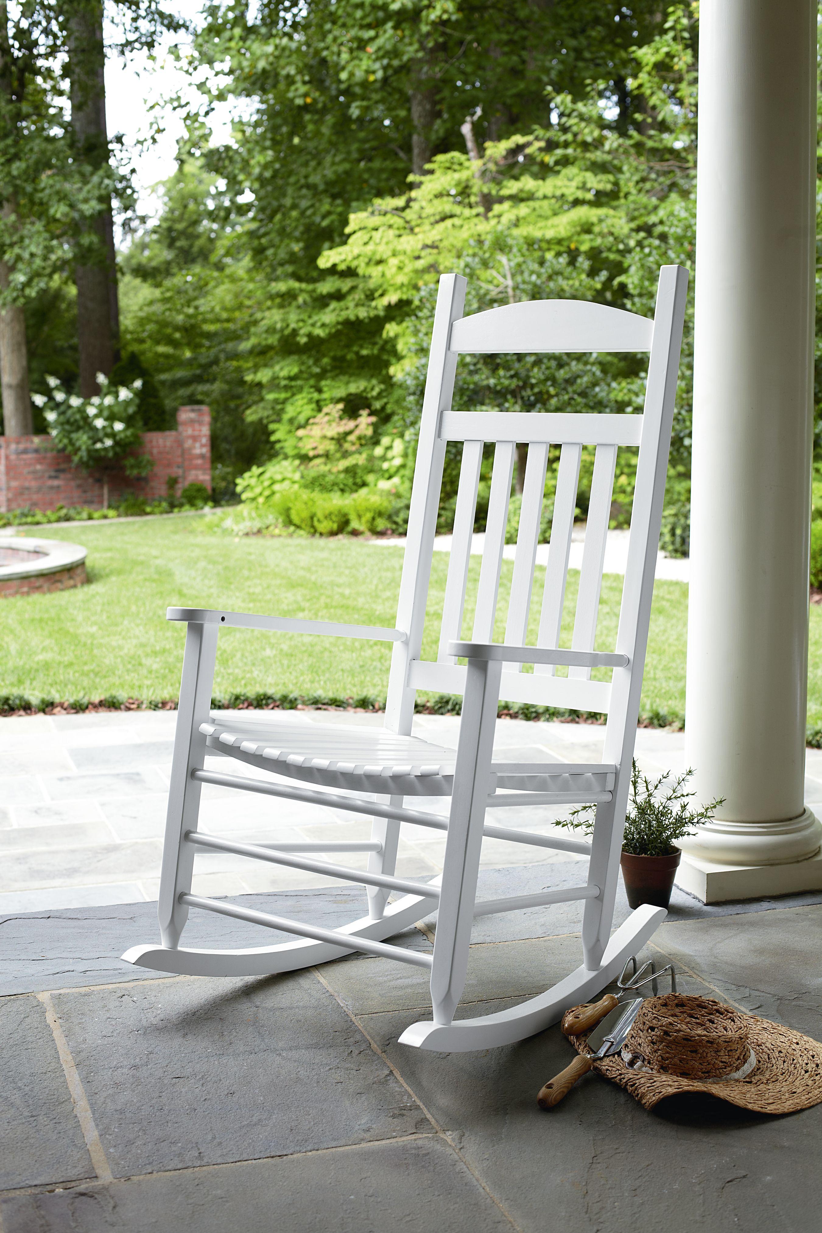 Garden Oasis Porch Rocker White