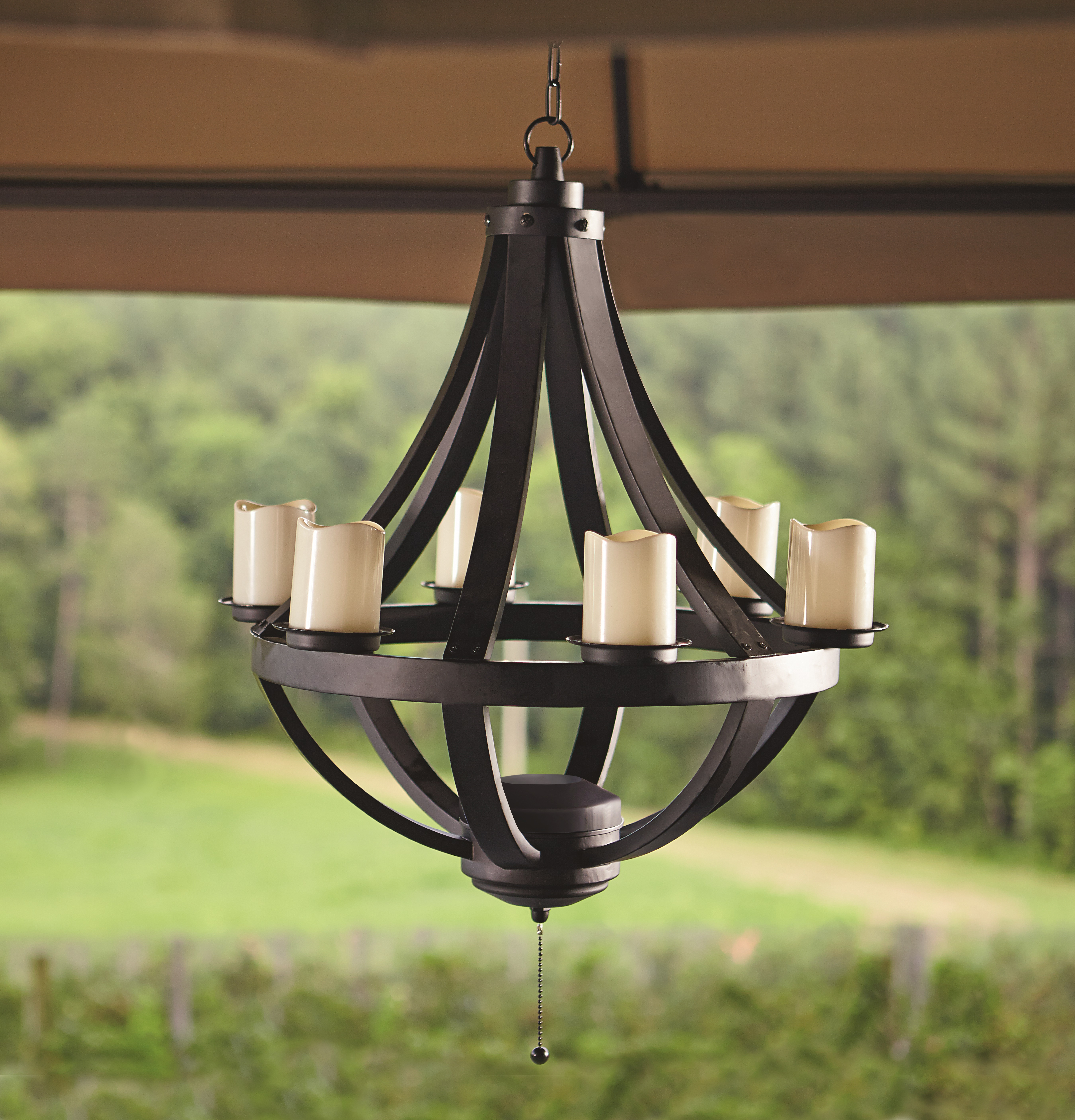 Grand Resort Domed Chandelier   Black *Limited Availability*