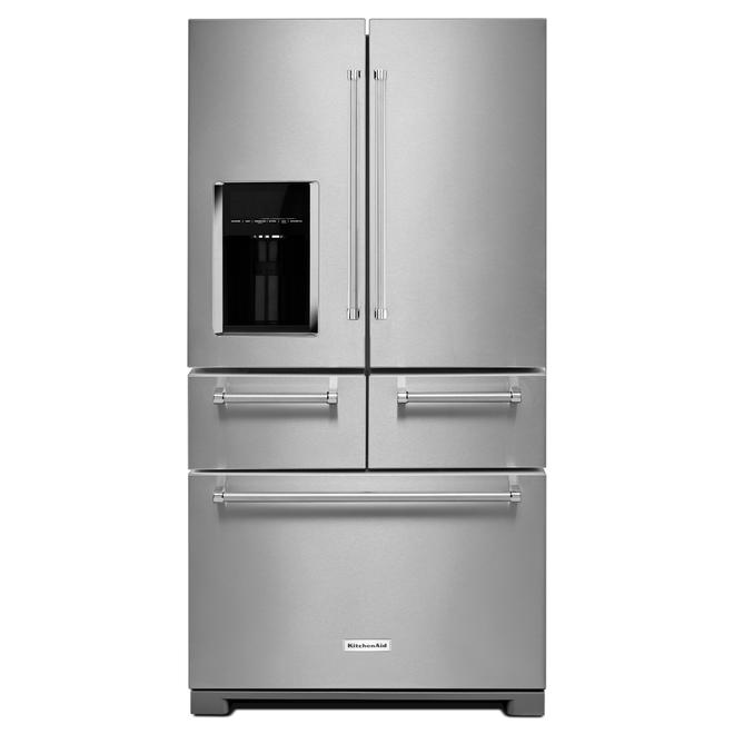 KitchenAid - KRMF706ESS - 25.8 cu. ft. Multi-Door Refrigerator ...
