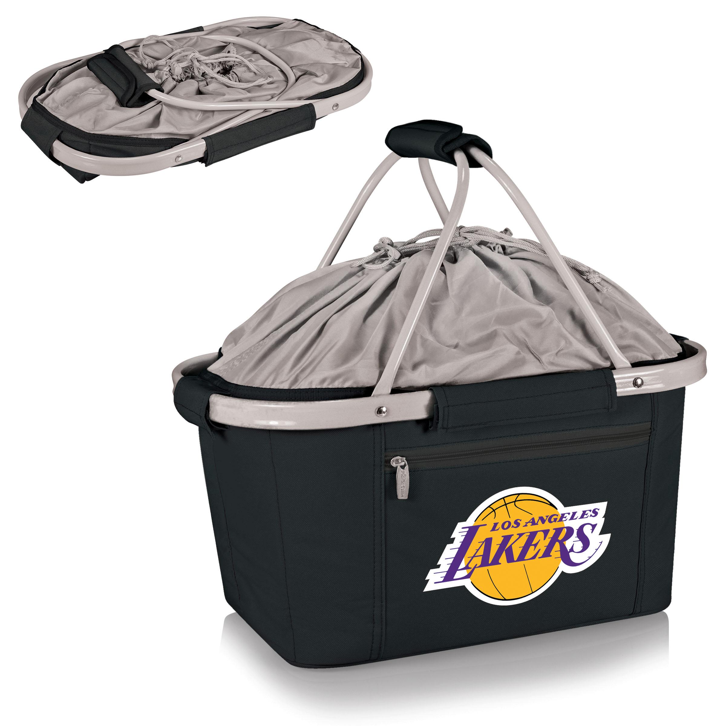 Metro Basket Cooler Tote - Black (Los Angeles Lakers) Digital Print