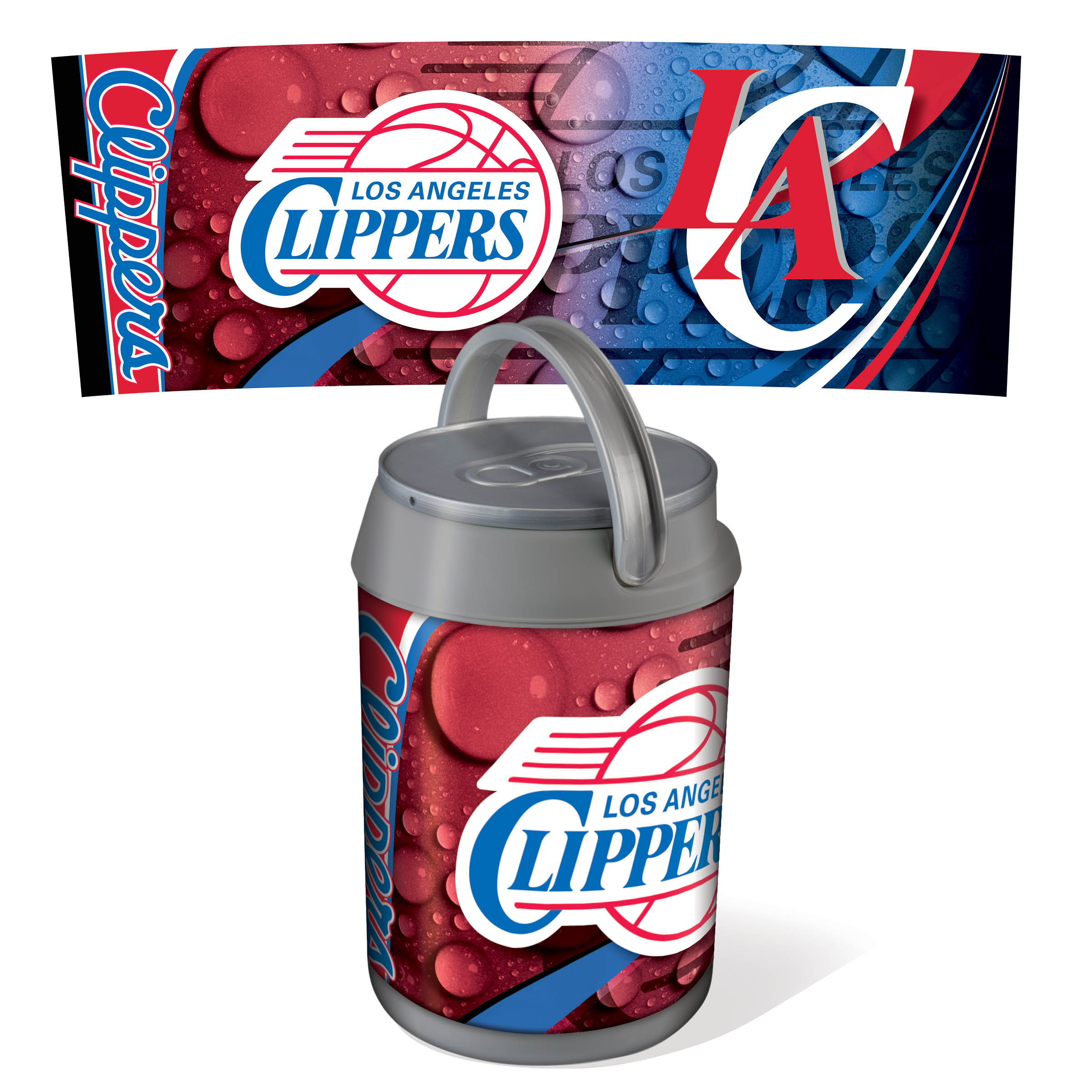 Picnic Time Mini Can Cooler - Silver/Gray (Los Angeles Clippers) Digital Print PartNumber: 00601675000P KsnValue: 00601675000 MfgPartNumber: 691-00-000-124-4