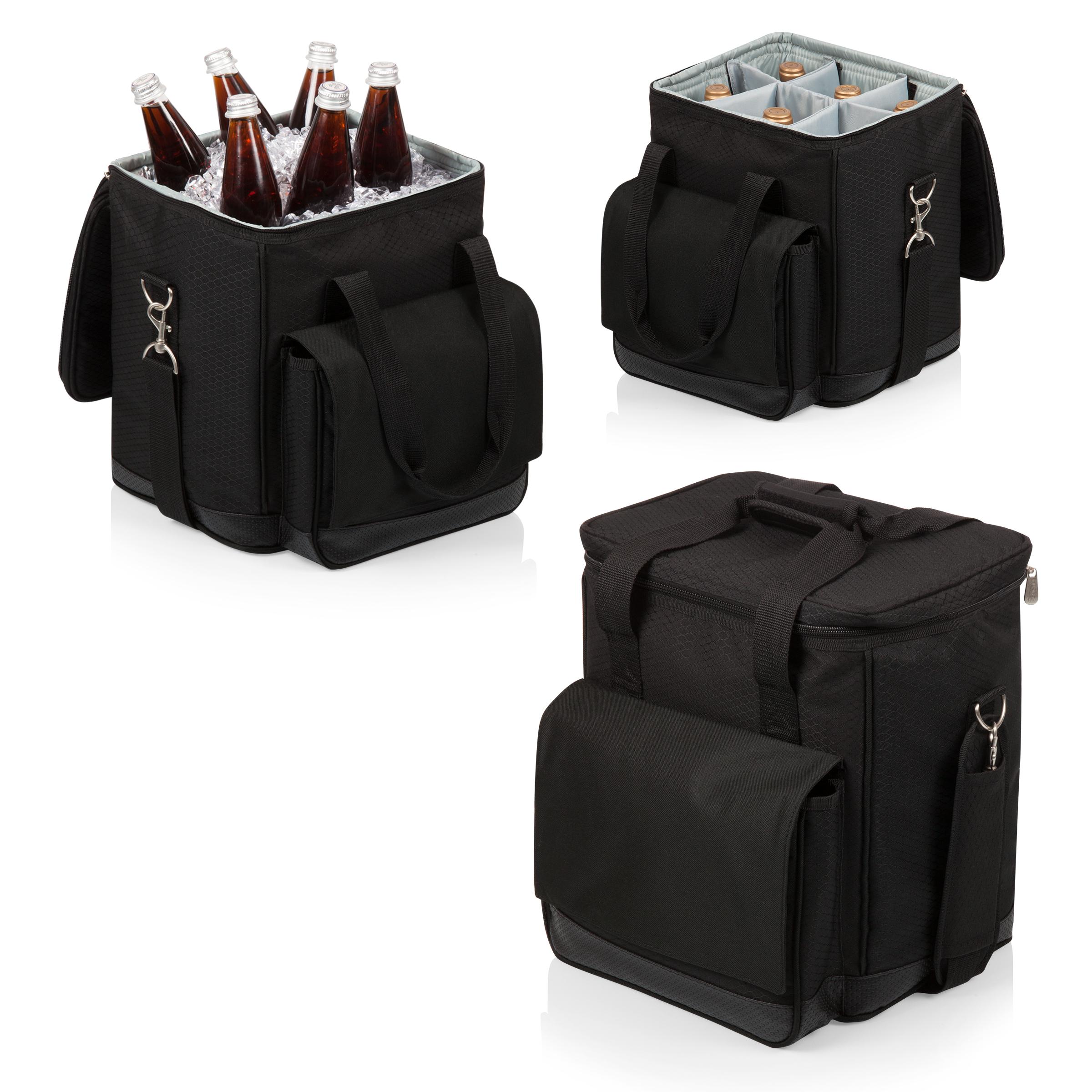 Image of Picnic Time Cellar 6-Bottle Wine Carrier & Cooler Tote- Black