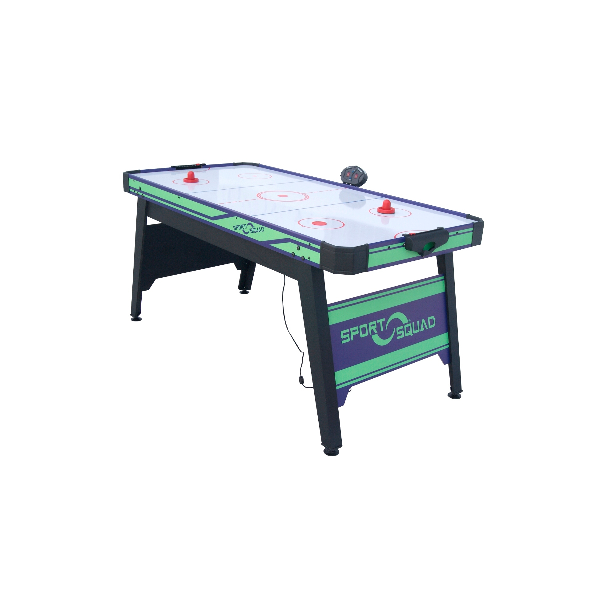 Sport-Squad-66in-Air-Powered-Hockey-BLUE-GREEN-with-Table-Tennis-Conversion-Top