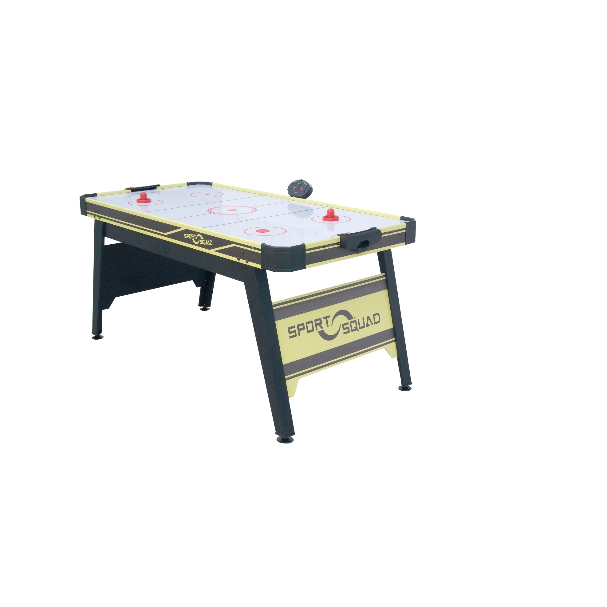 Sport-Squad-66in-Air-Powered-Hockey-BLACK-YELLOW-with-Table-Tennis-Conversion-Top