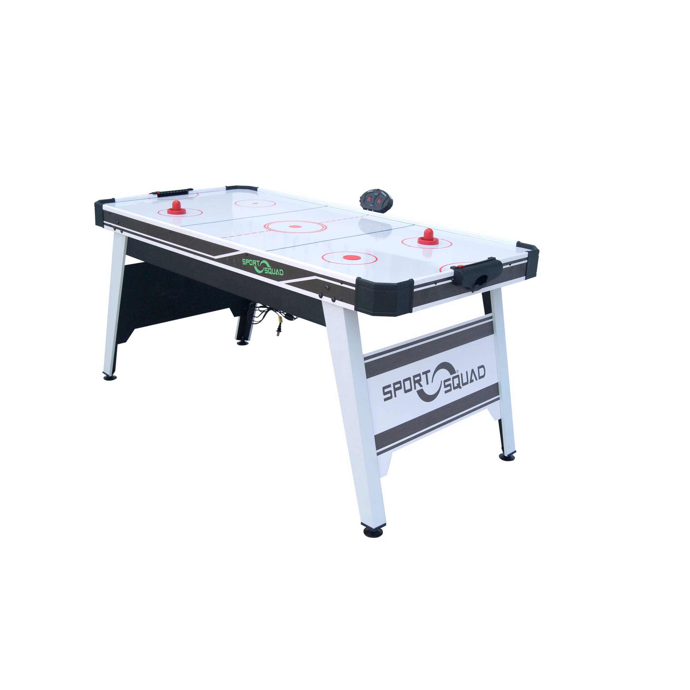 Sport-Squad-66in-Air-Powered-Hockey-BLACK-GRAY-with-Table-Tennis-Conversion-Top