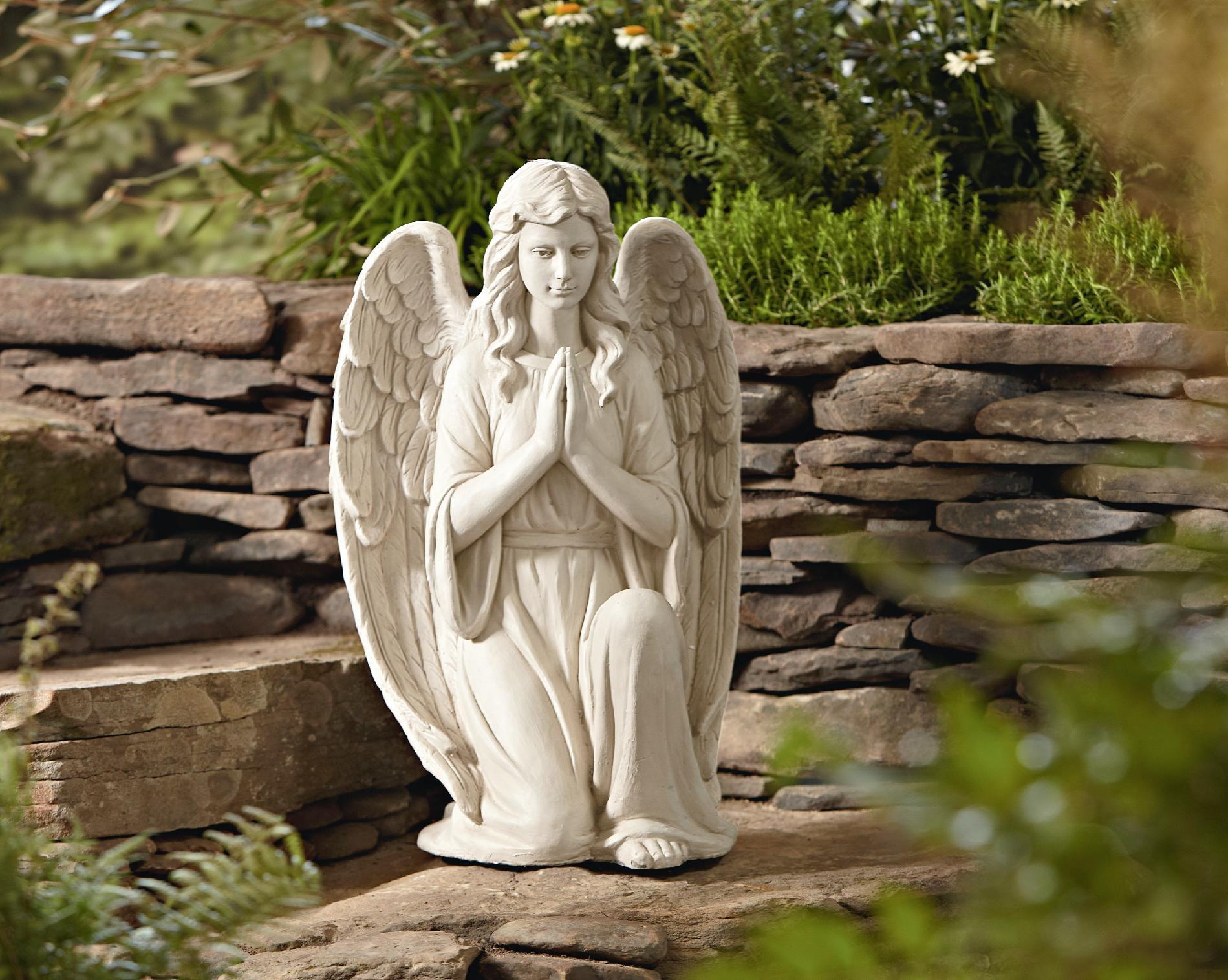 Essential Garden CTM INTERNATIONAL GIFTWARE INC CTM Giftware G22903AA 27  In. Kneeling Angel Statue