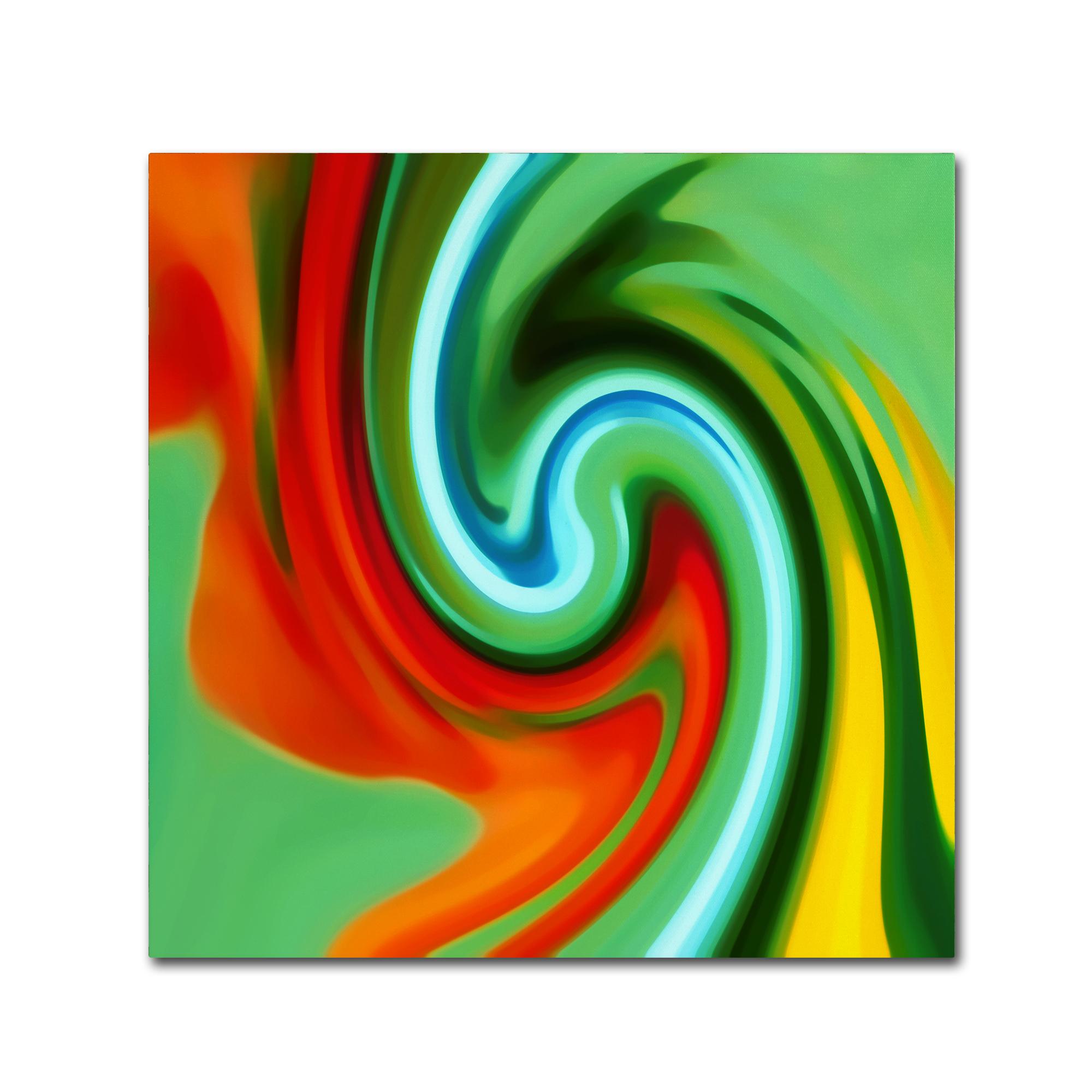 Trademark Fine Art Amy Vangsgard 'Abstract Flower Unfurling Square 2' Canvas Art PartNumber: 021V002671844000P KsnValue: 2671844 MfgPartNumber: AV0152-C1818GG
